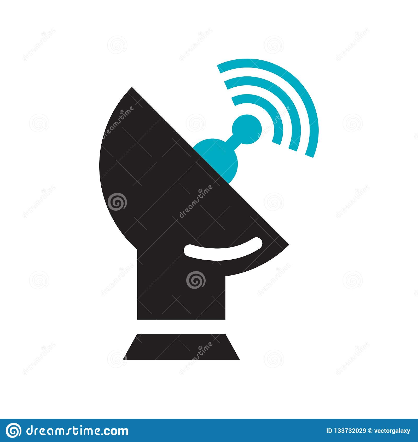 Satelite antenna icon vector sign and symbol isolated on white background, Satelite antenna logo concept