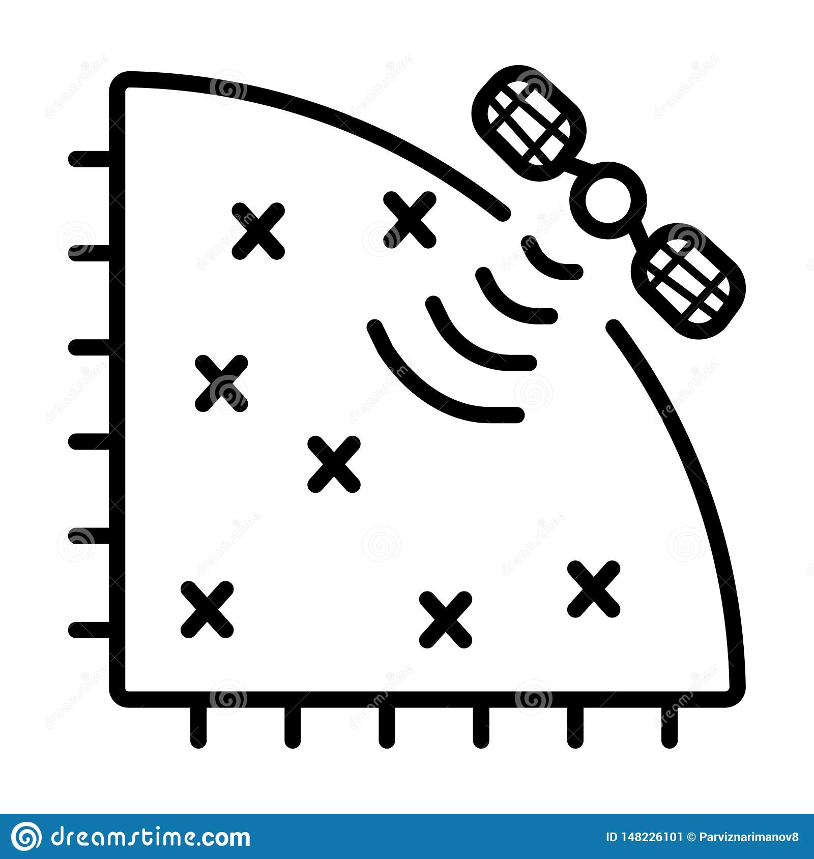Satelite icon vector
