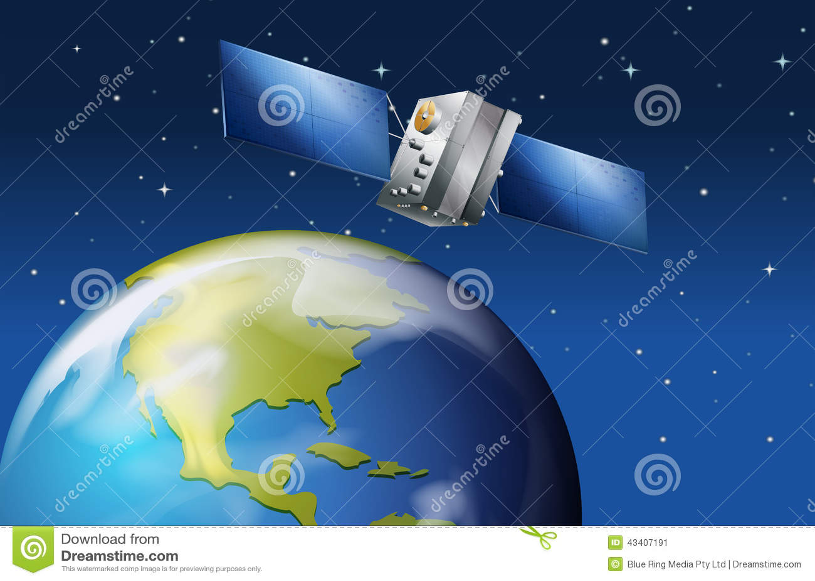 Satelitte nahe der Planet Erde