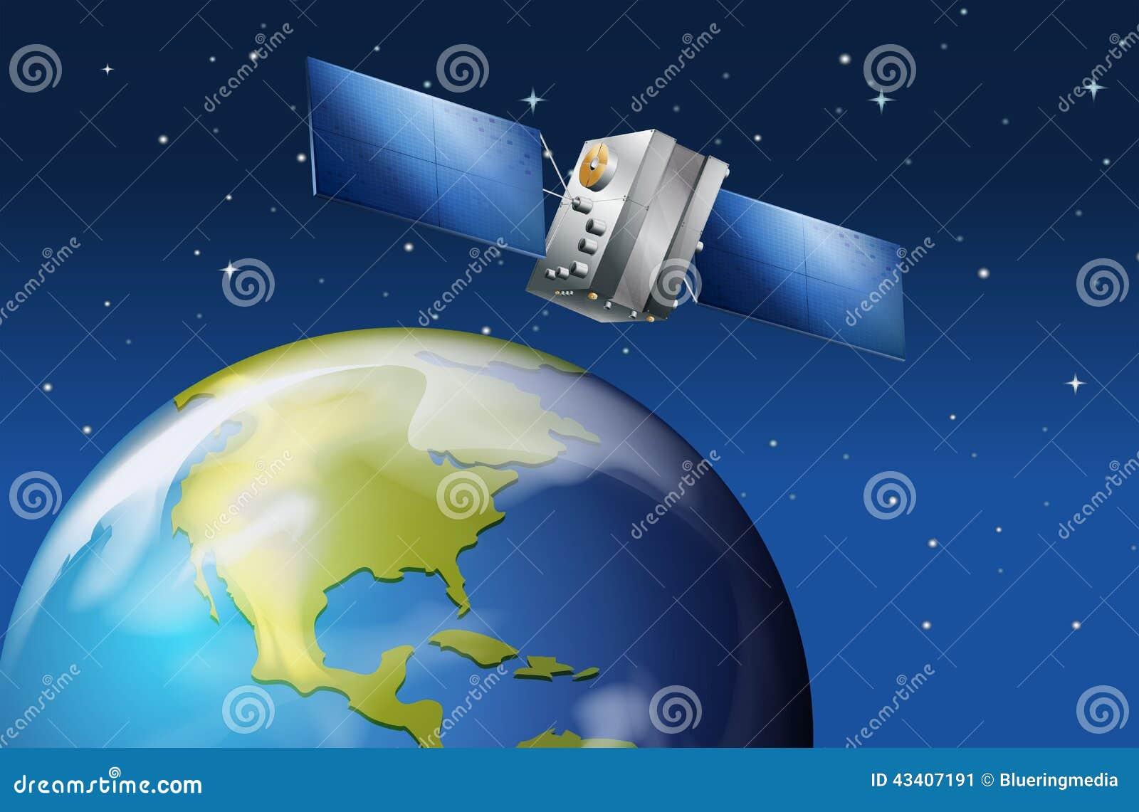 Satelliet dichtbij de aarde