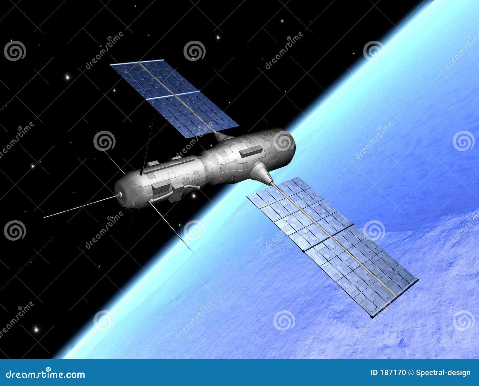 Satelliet over aarde 1