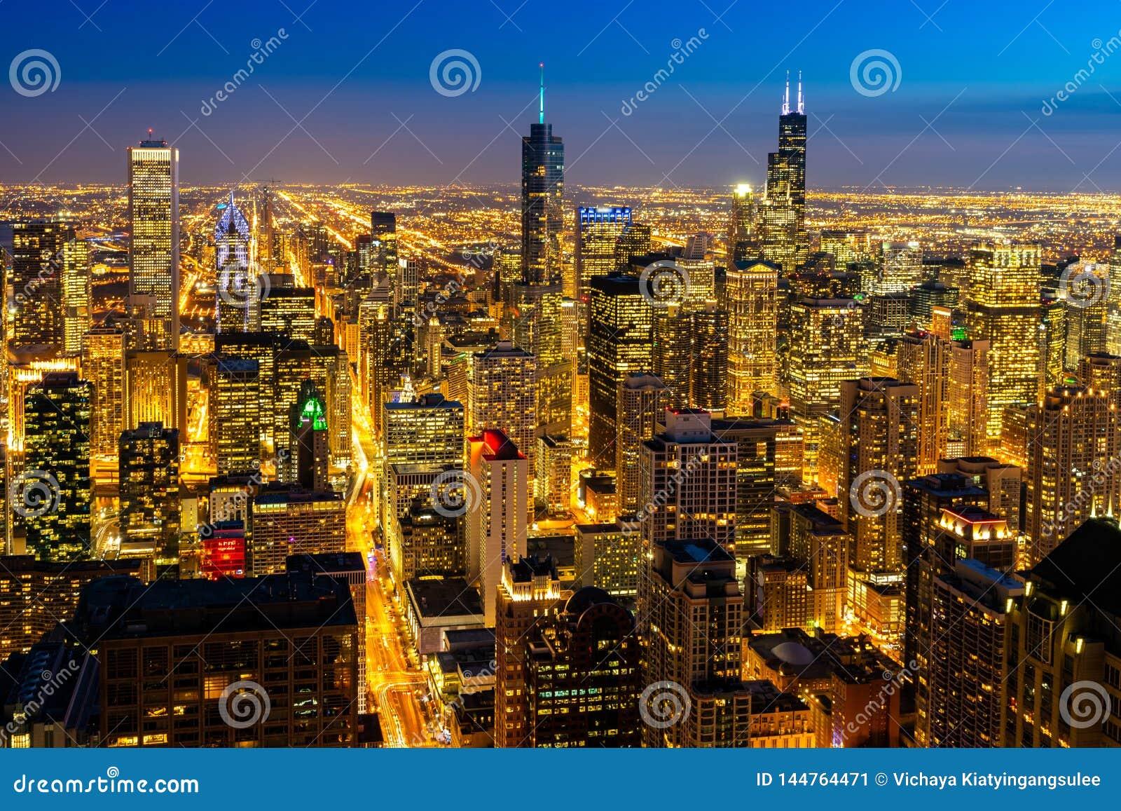 Satellietbeeld van de Horizonnenzuiden van Chicago