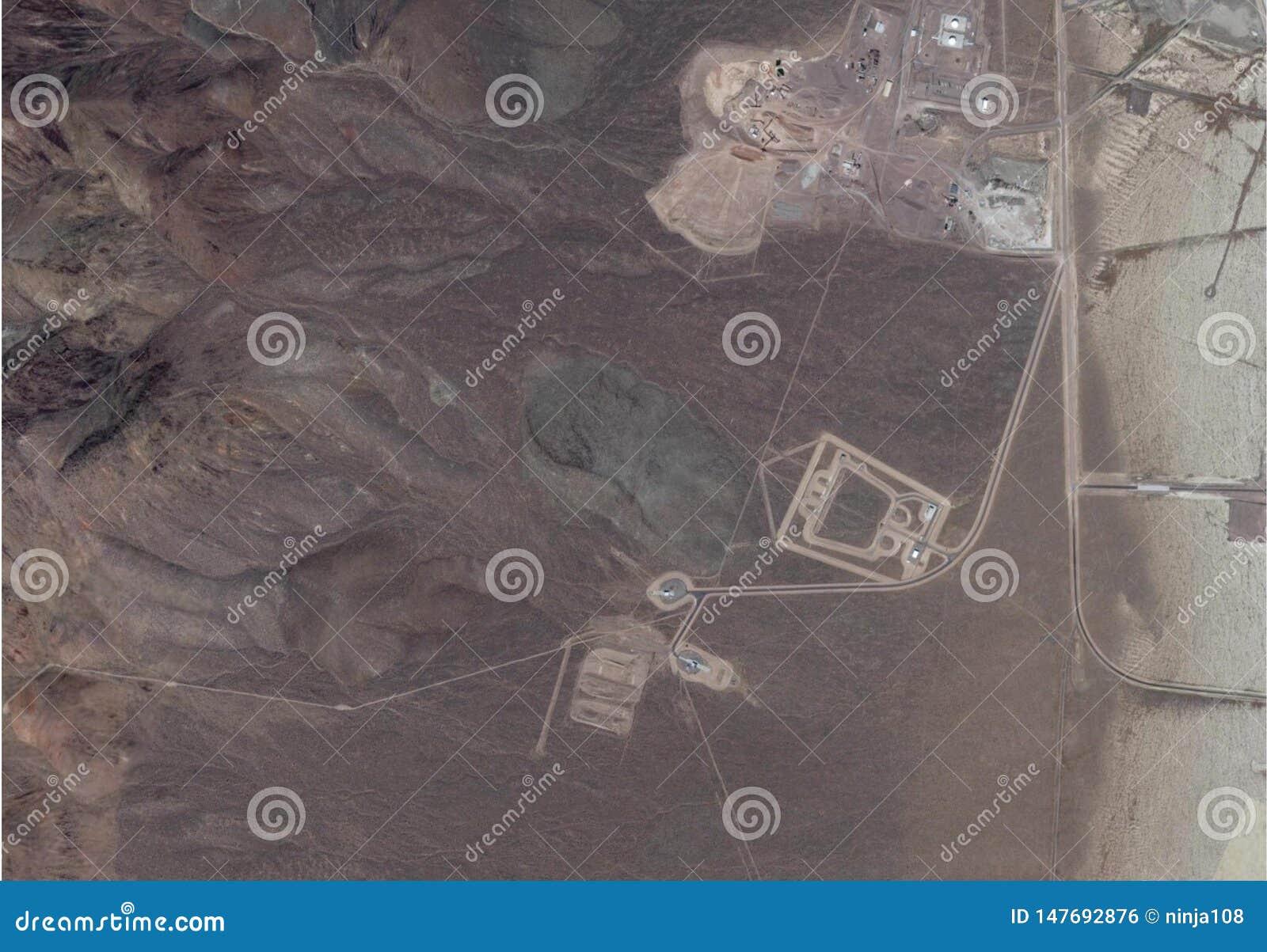 Satellietbeeld van gebied 51