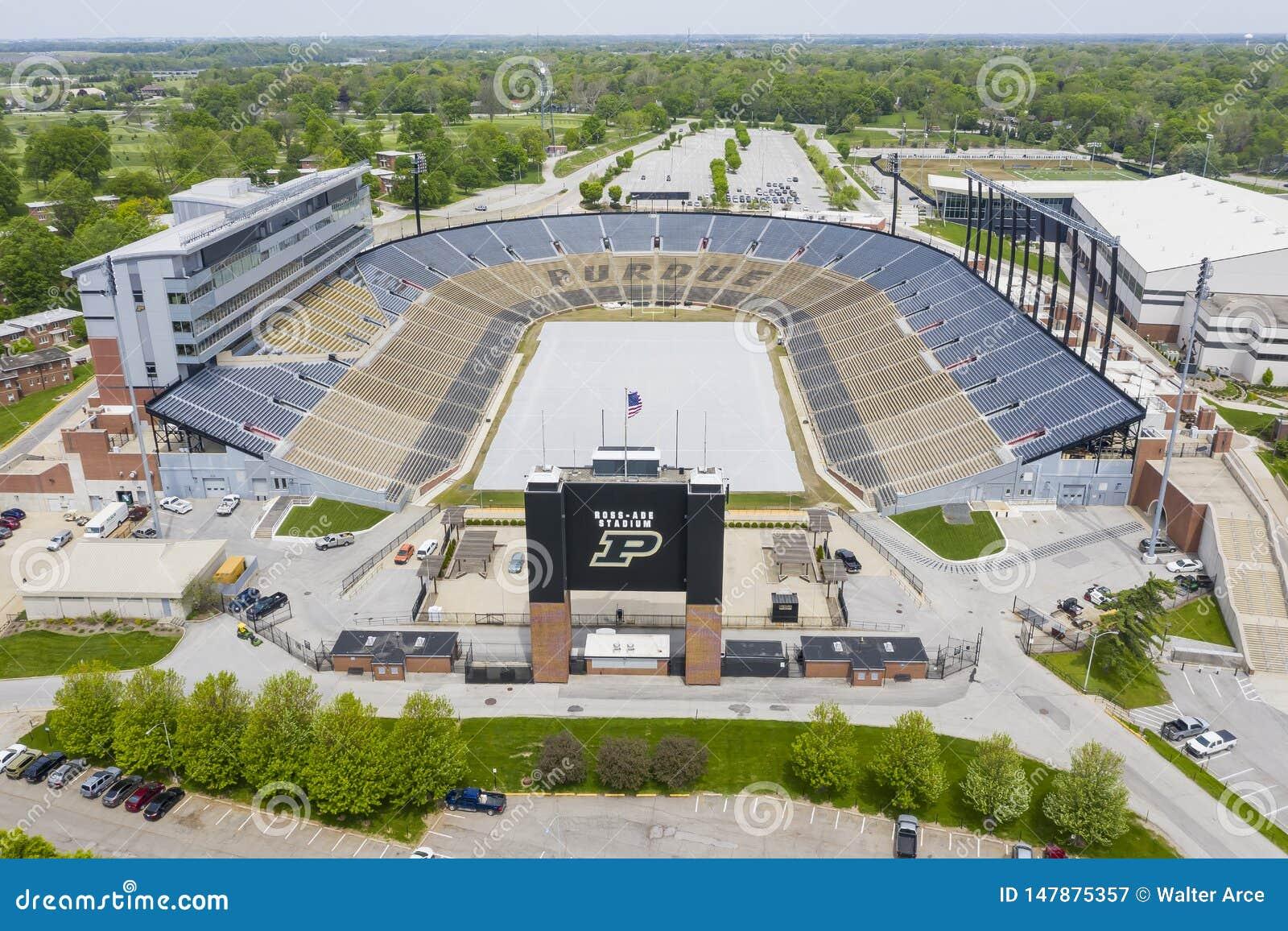 Satellietbeelden van Ross-Ade Stadium On The Campus van Purdue University