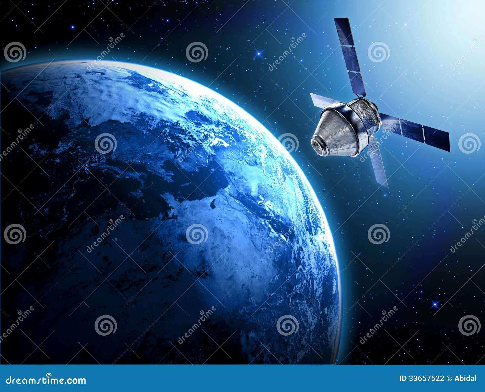 Satellit i utrymme