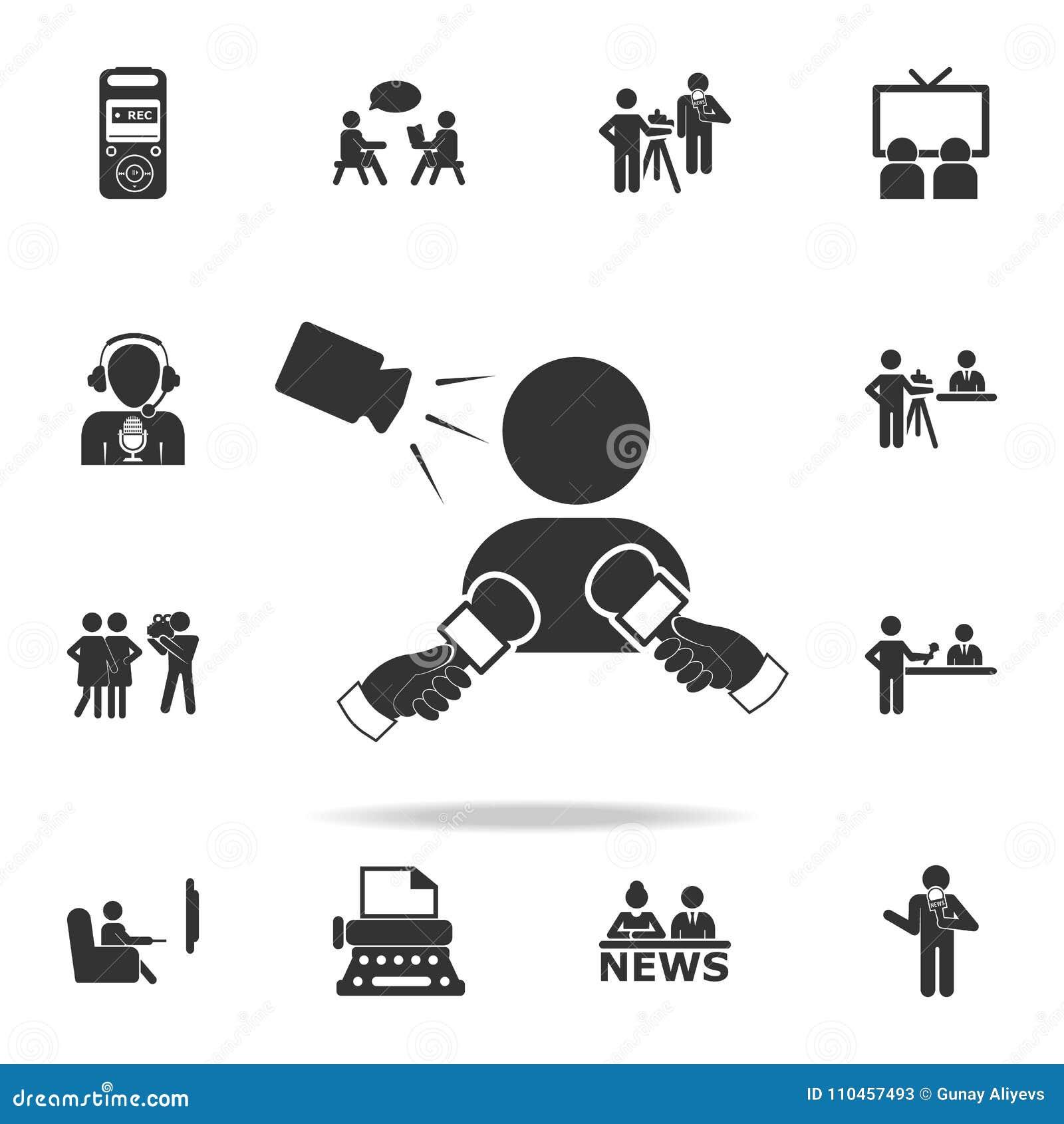 Satellit- teknologibegreppssymbol Detaljerade uppsättningsymboler av massmediabeståndsdelsymbolen Högvärdig kvalitets- grafisk de