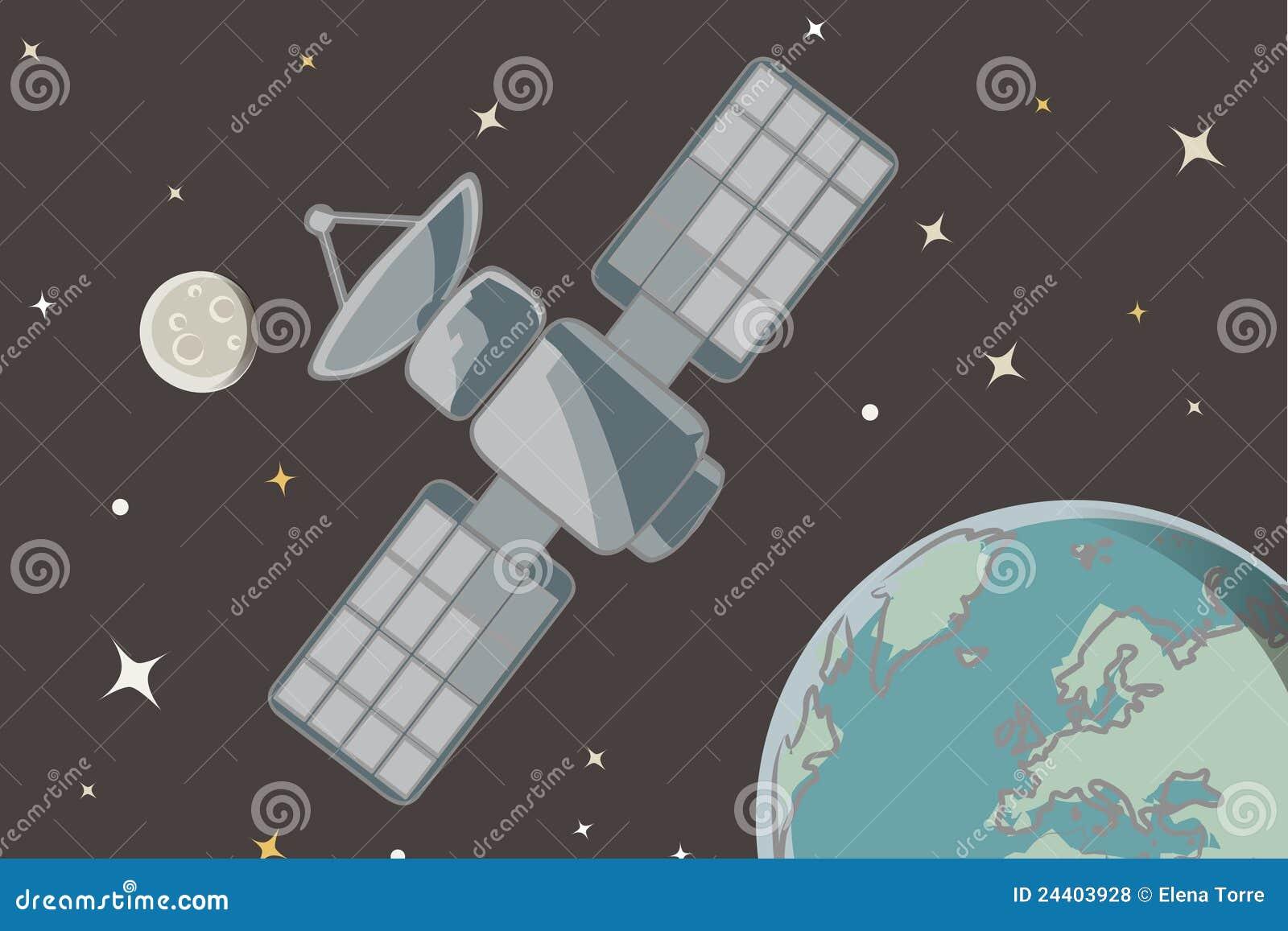 Satellite Vector Royalty Free Stock Photos - Image: 24403928