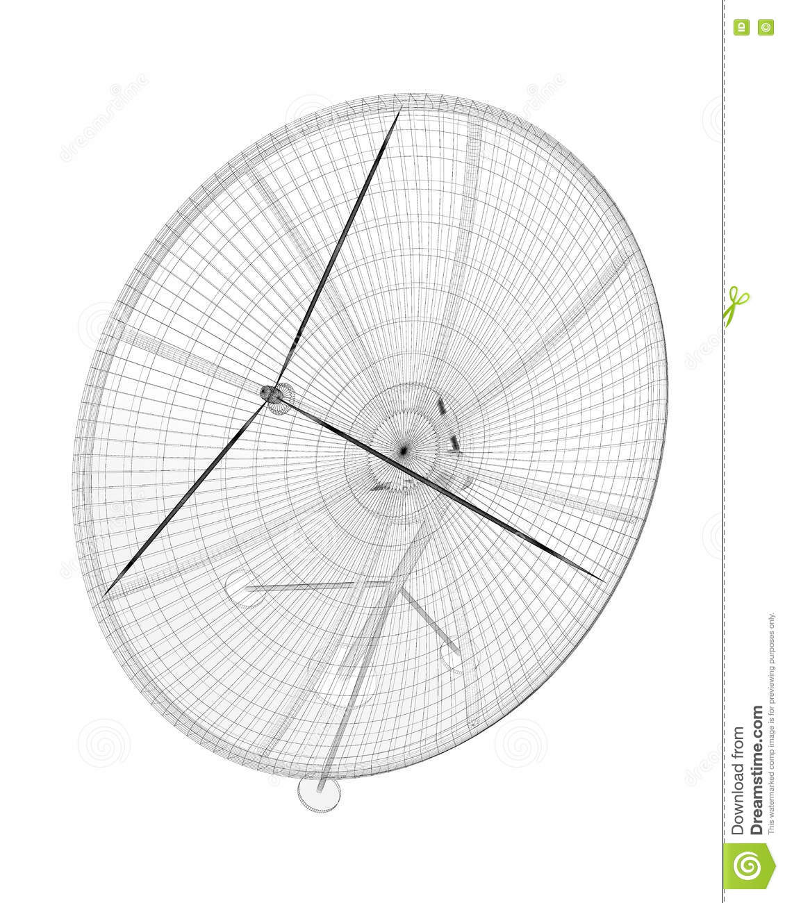 Satellite antenna, digital stock image  Image of radar