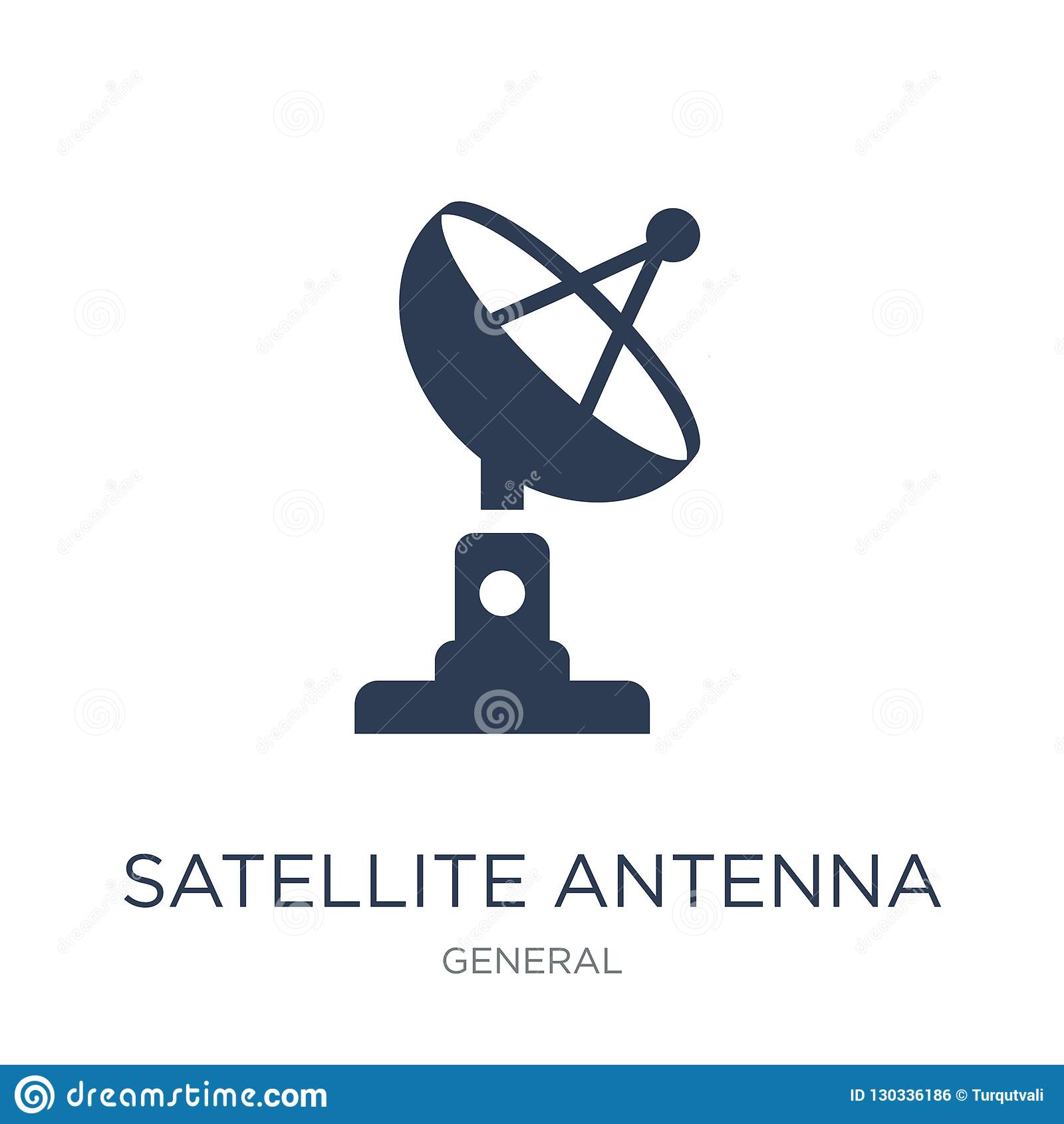 satellite antenna icon. Trendy flat vector satellite antenna icon on white background from General collection