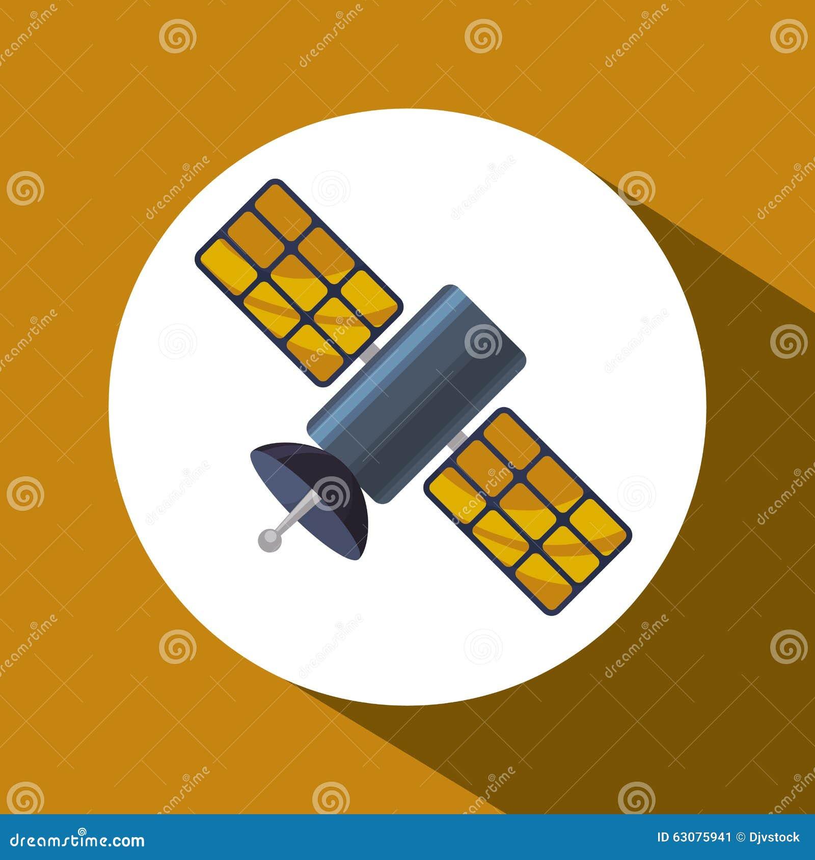 Download Satellite Au-dessus De Conception De Cercle Illustration de Vecteur - Illustration du globe, gare: 63075941