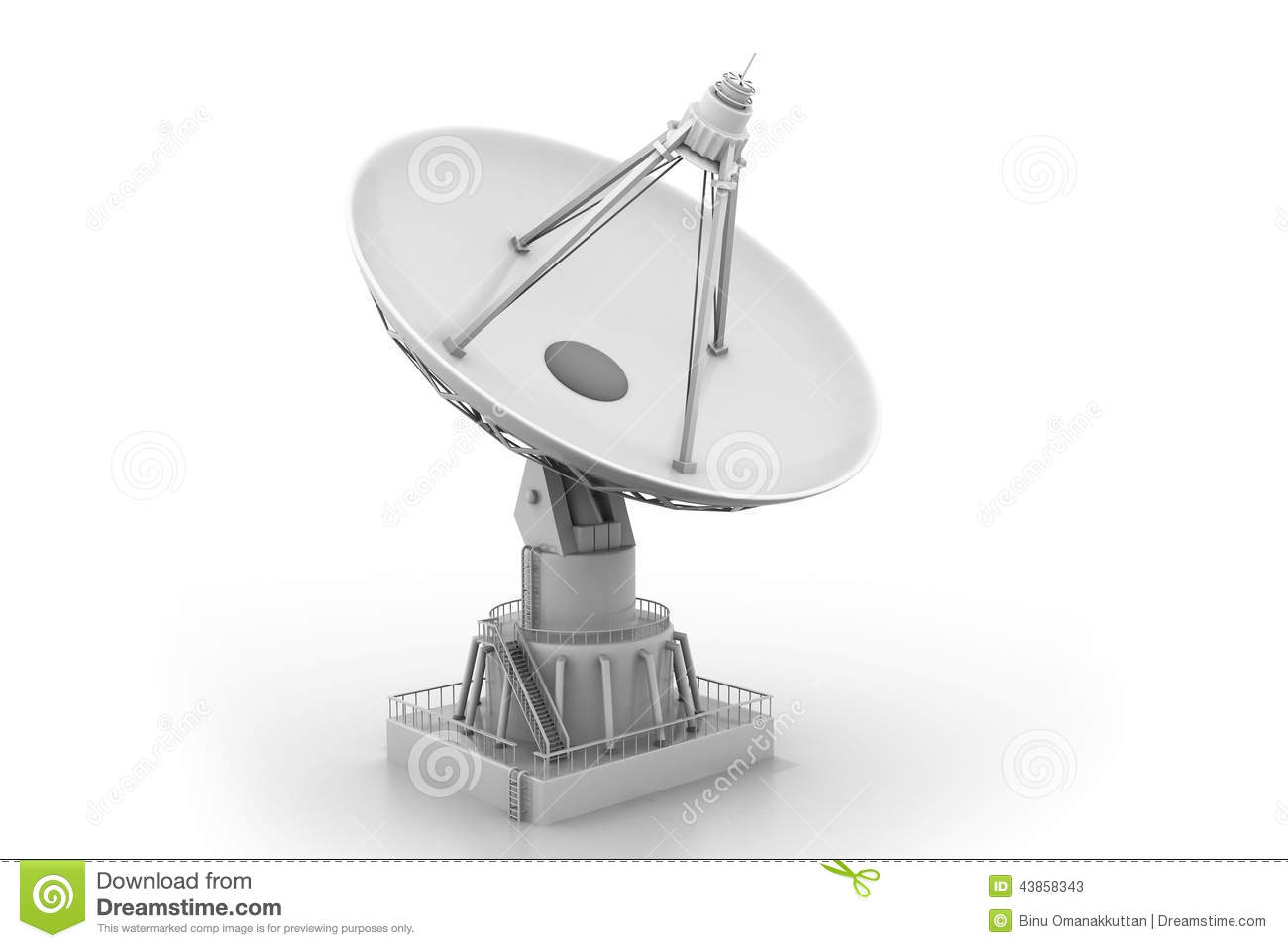 Satellite Communication Stock Illustration - Image: 43858343