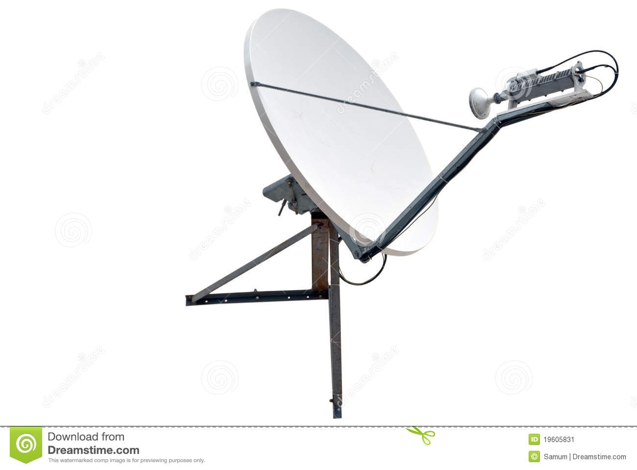 Satellite Dish Antenna Stock Image - Image: 19605831