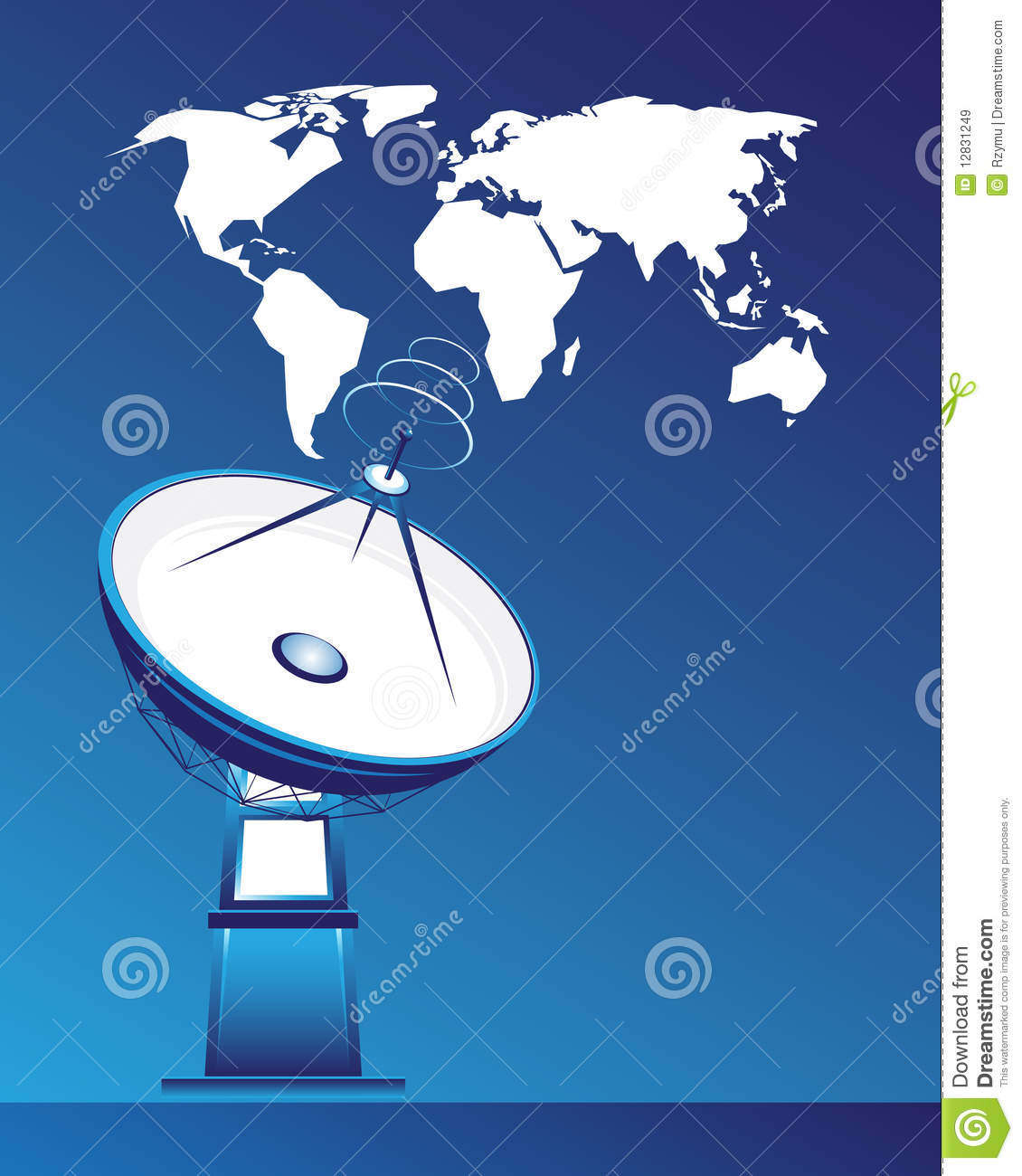 Satellite Dish And Map Of The World Stock Vector ... on dish sports, geographical map, dish mexico, cable map, dish movies, verizon map, dish food,