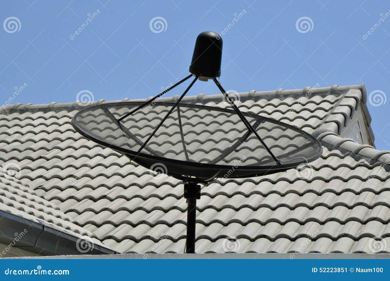 Satellite Dish On The Roof Stock Photo Image 52223851