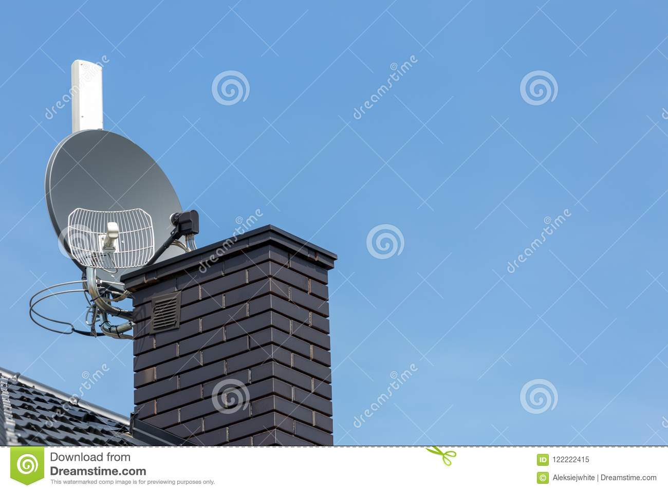 Satellite Dish And Tv Radio And Wireless Internet Antenna Stock Image Image Of Digital Outdoor 122222415