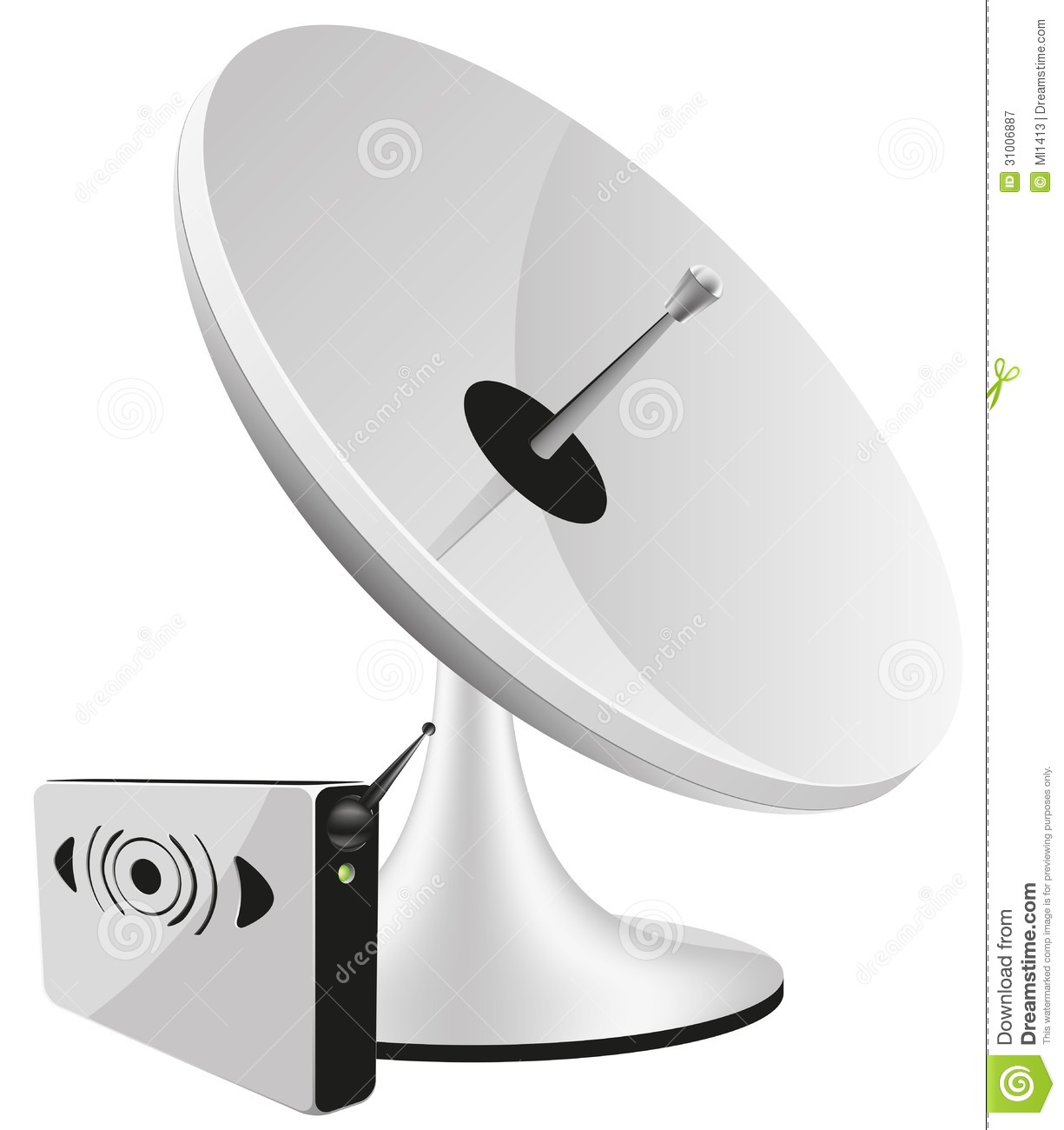 Satellite dish vector stock vector. Image of research ...