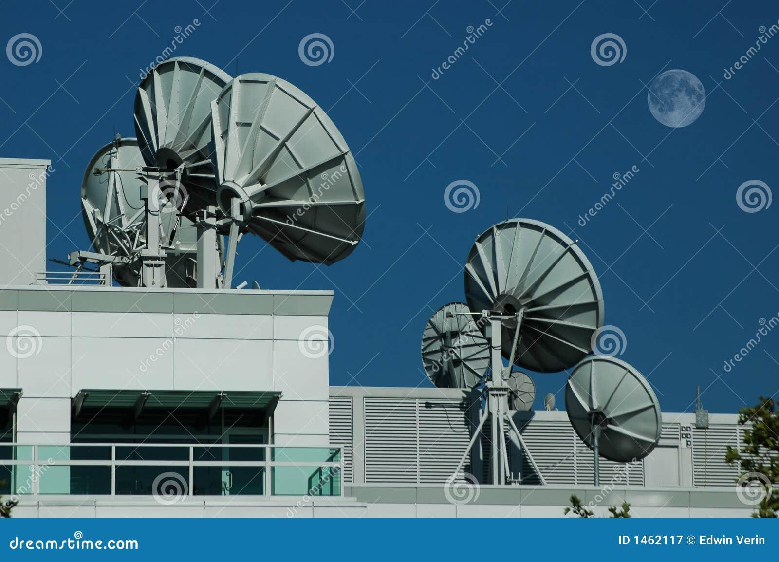 Satellite Dishes 2 Stock Image Of Astrophysics