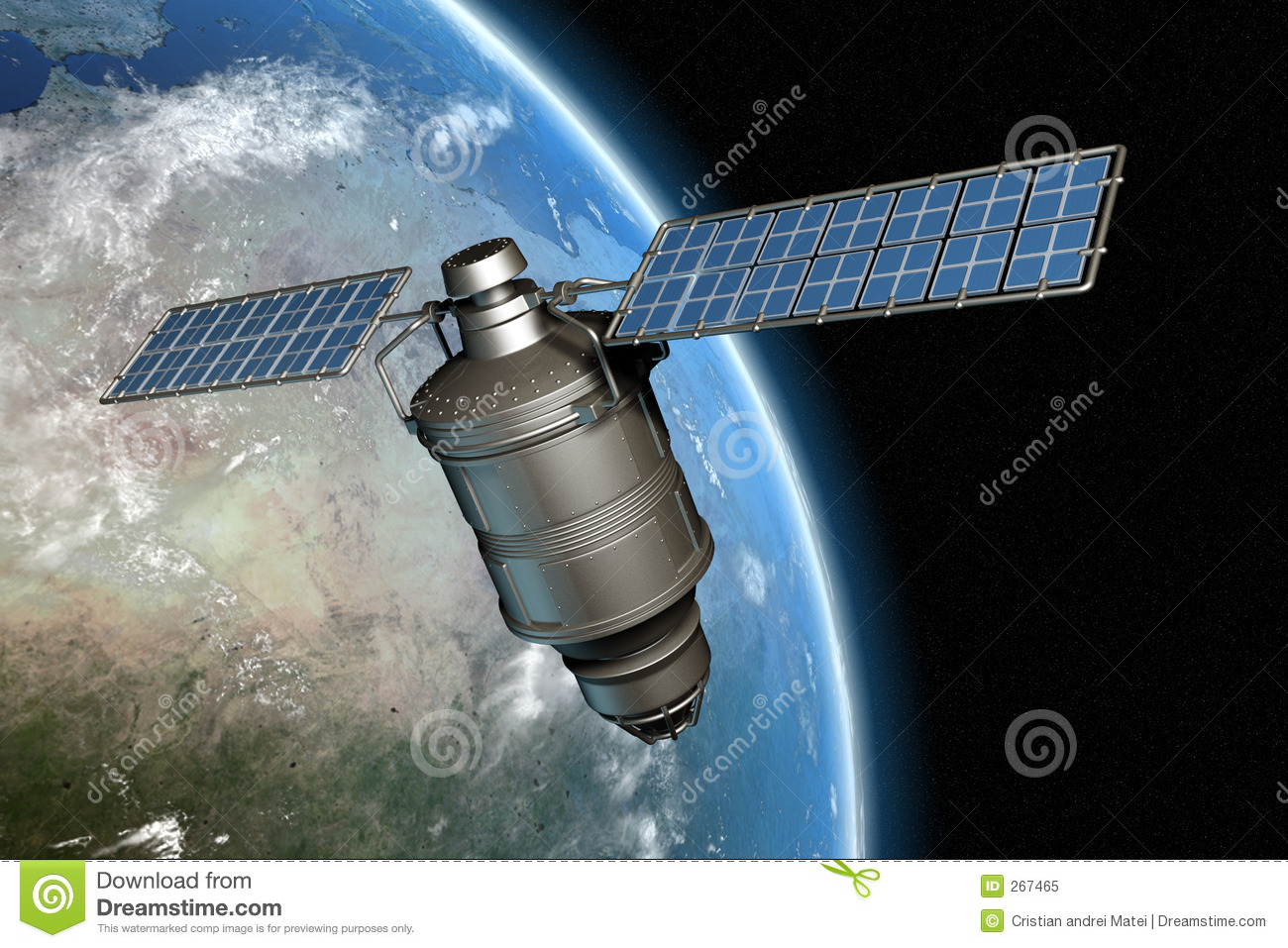 Satellite and earth 11