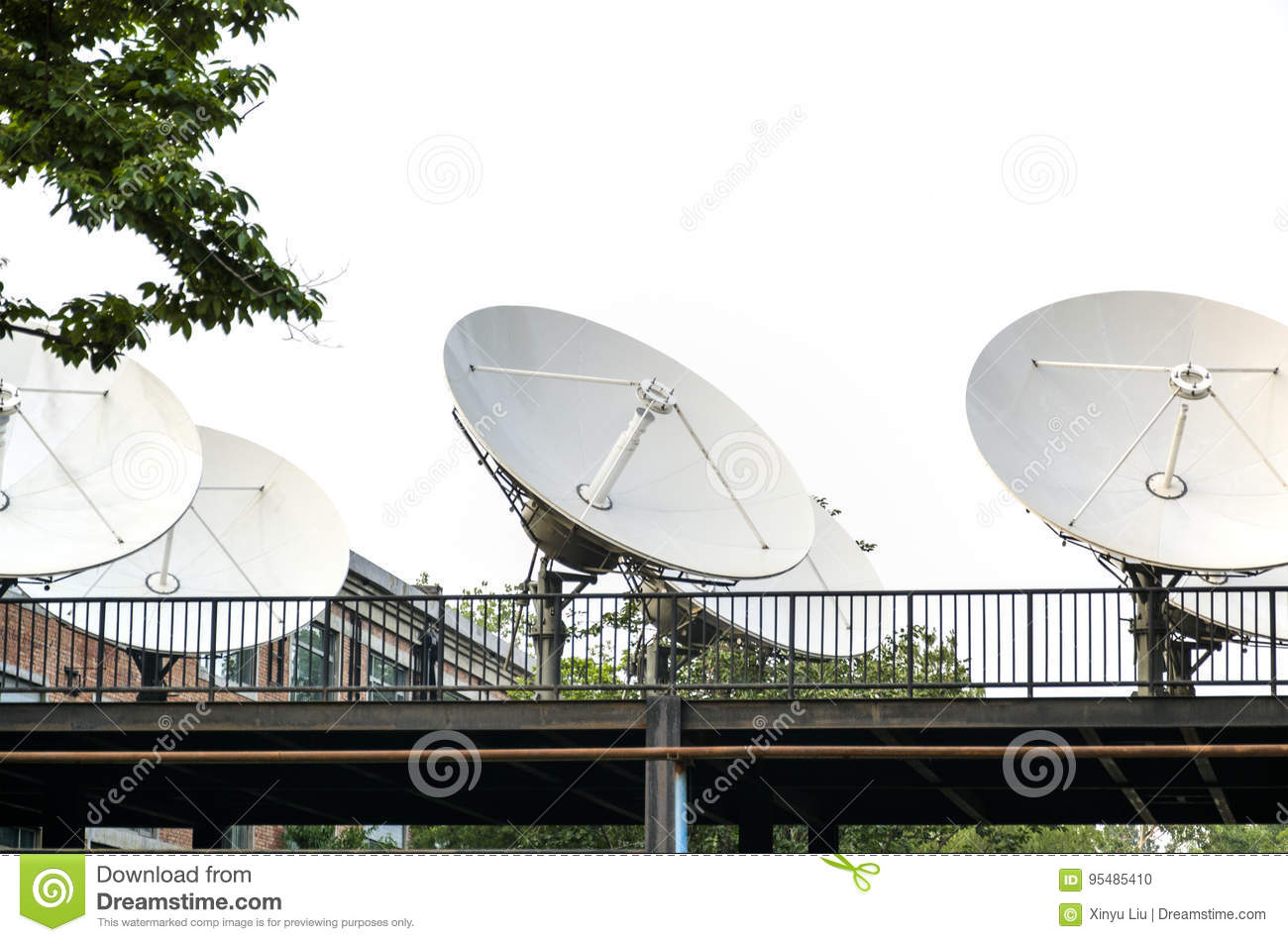Satellite Ground Station Stock Photo Image Of Techniques 95485410