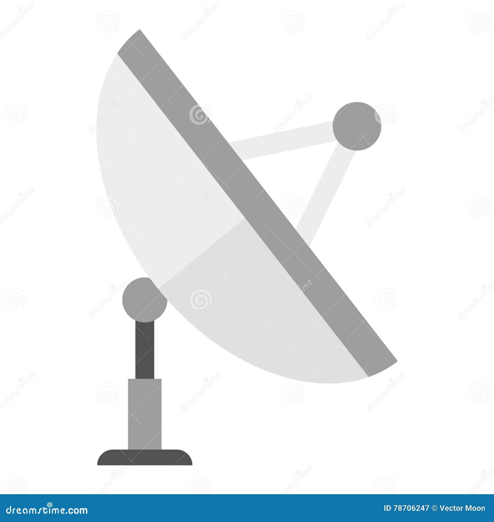 Satellite Icon Technology Vector Illustration Stock Vector