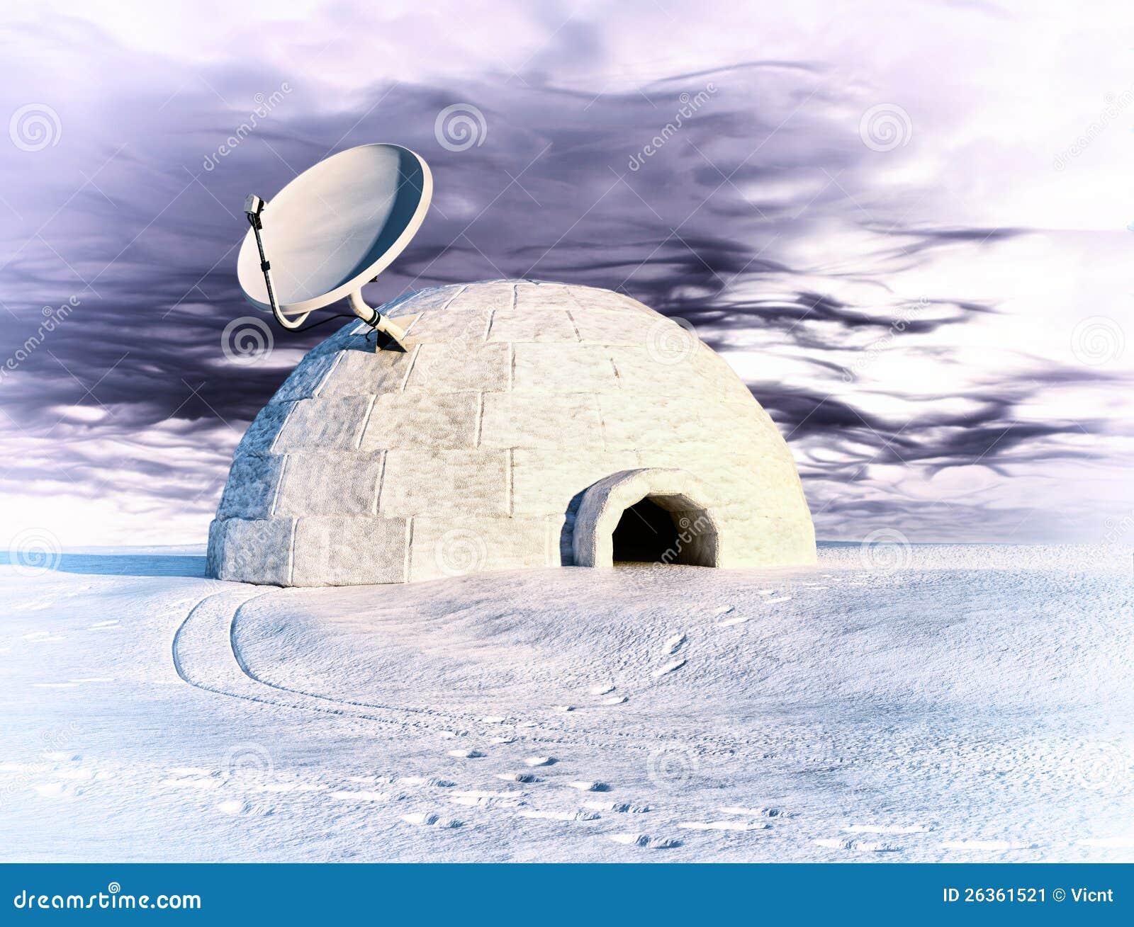 Satellite And Igloo Stock Image Image 26361521