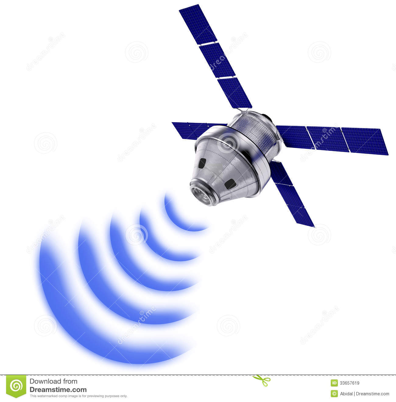 Satellite Transmission Data Isolated Royalty Free Stock Images - Image ...