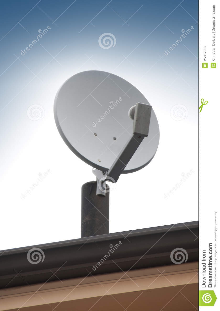 How To Figure Car Payment >> Satellite TV Antenna On Roof Stock Photography - Image: 25052882