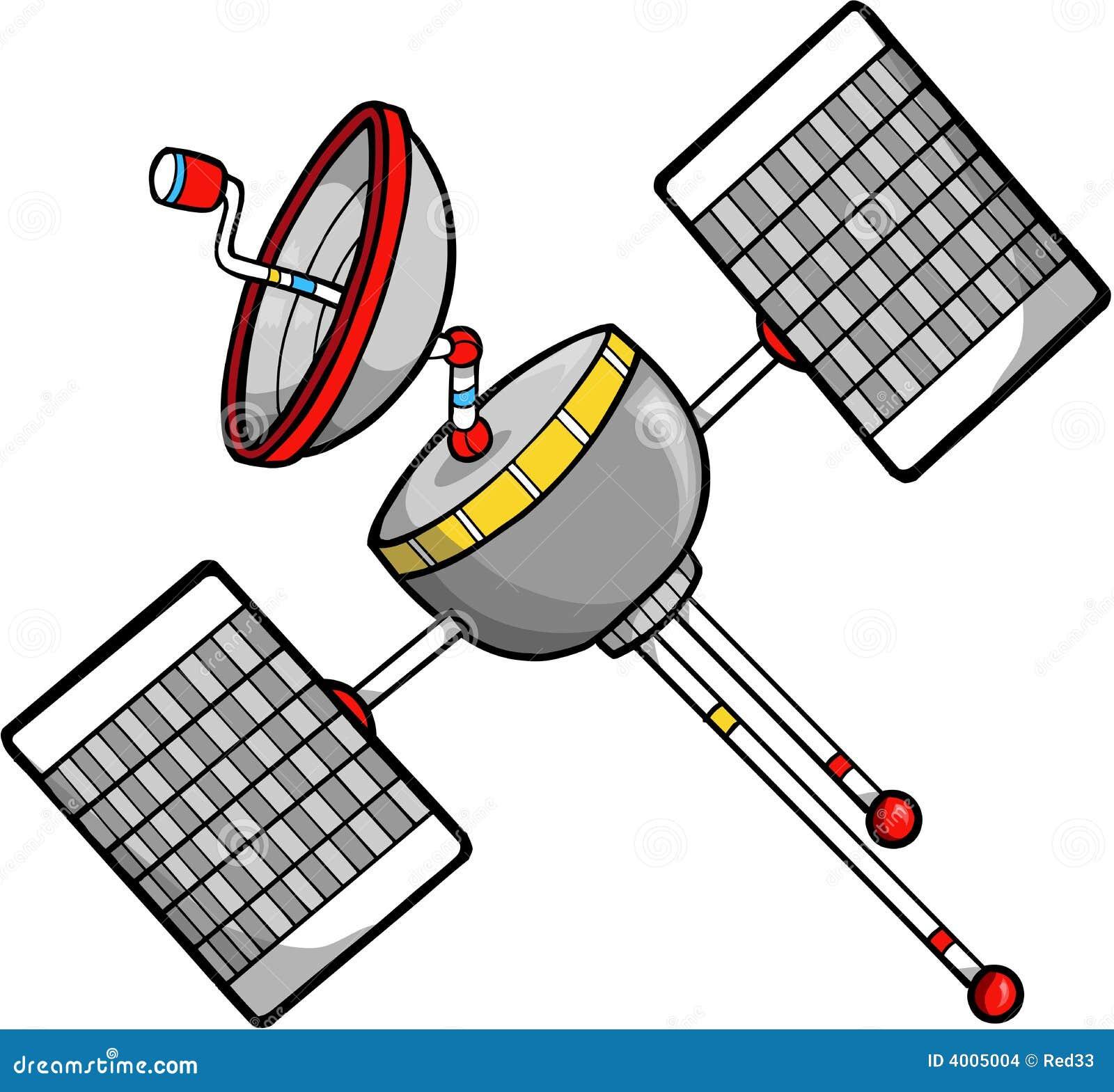 Satellite Vector Illustration Stock Images - Image: 4005004