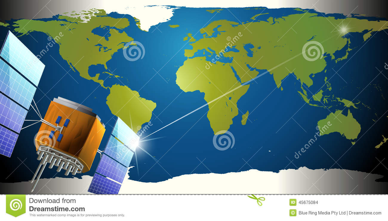 Satellites in the outerspace stock vector image 45675084 for Outer space design group pty ltd