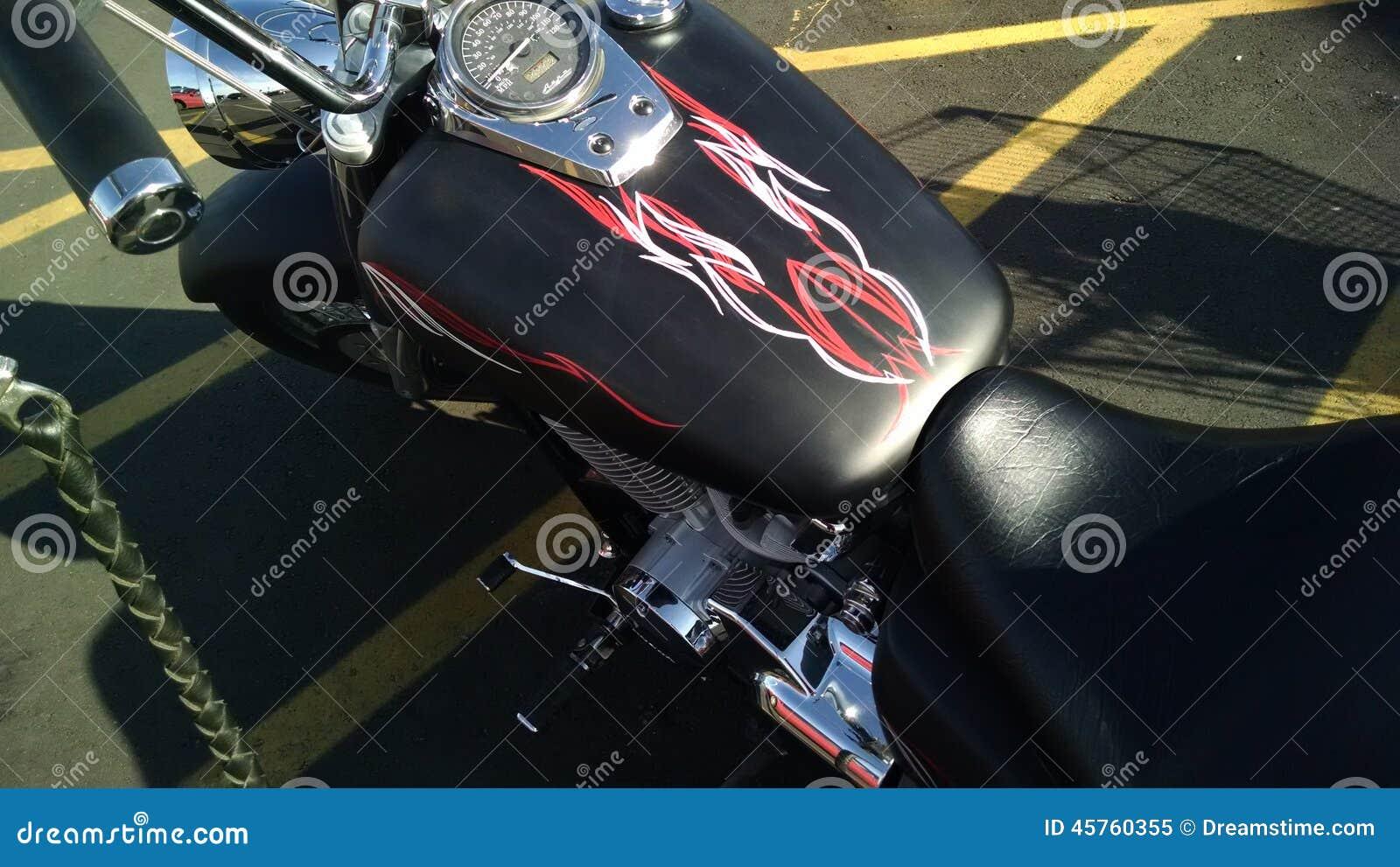 Satin black motorcycle paint job