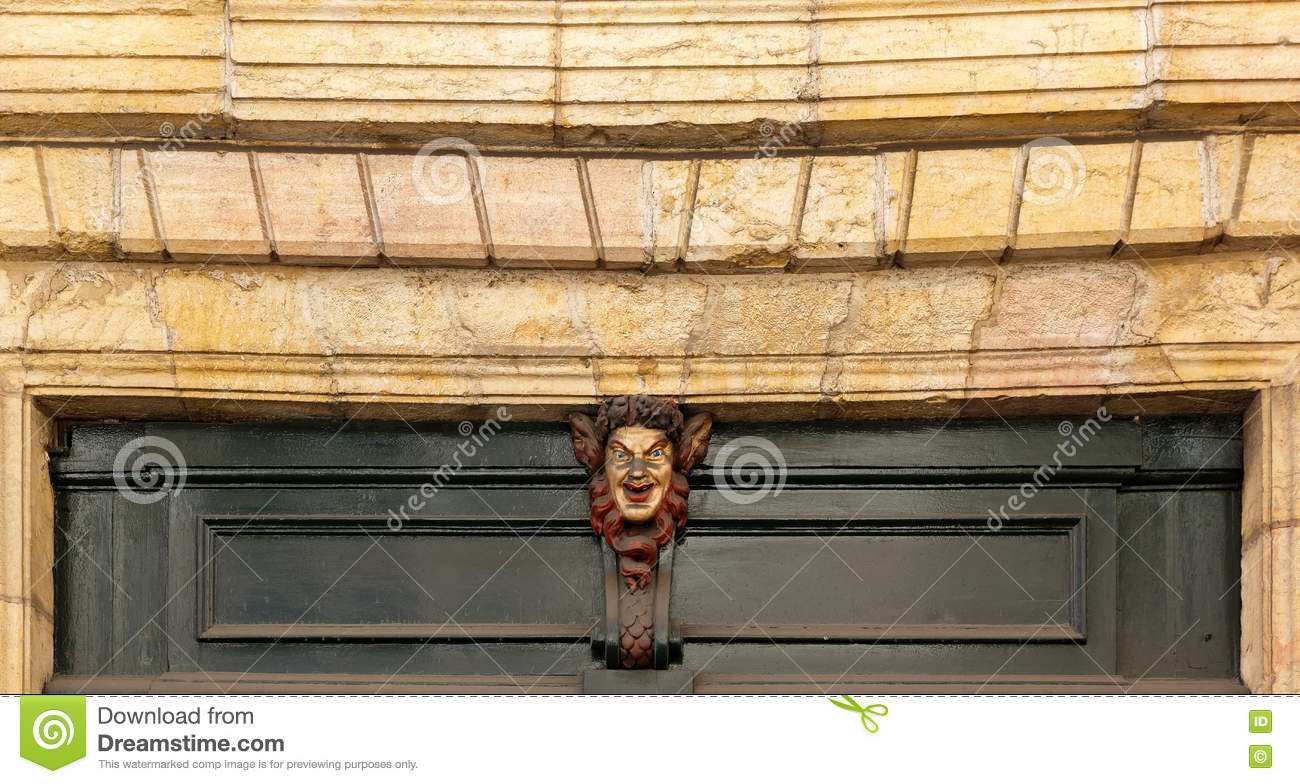 Satire Mask Over The House Door Stock Image Image Of