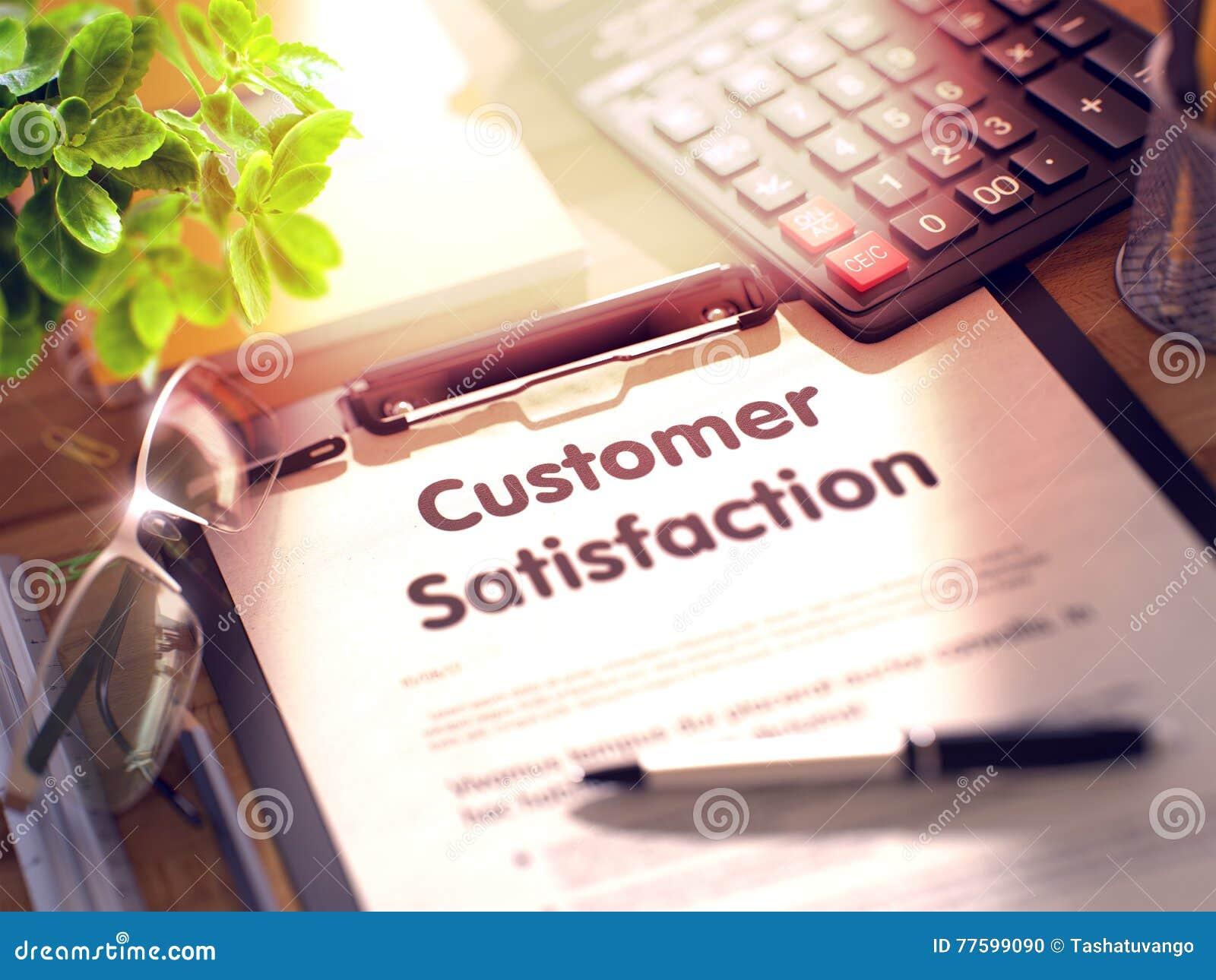 Satisfacción del cliente en el tablero 3d