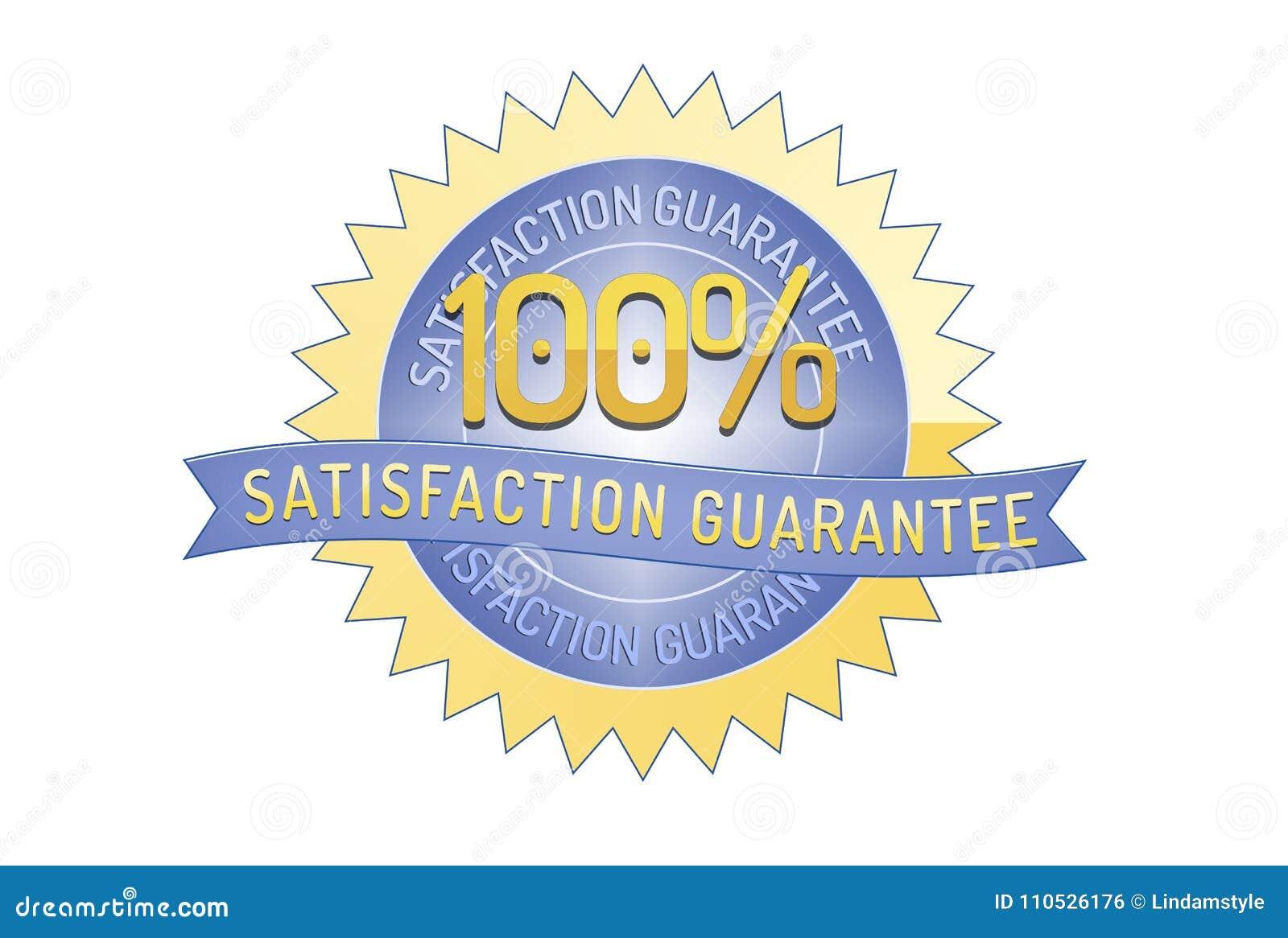 100% Satisfaction Guarantee Ribbon And Badge Stock