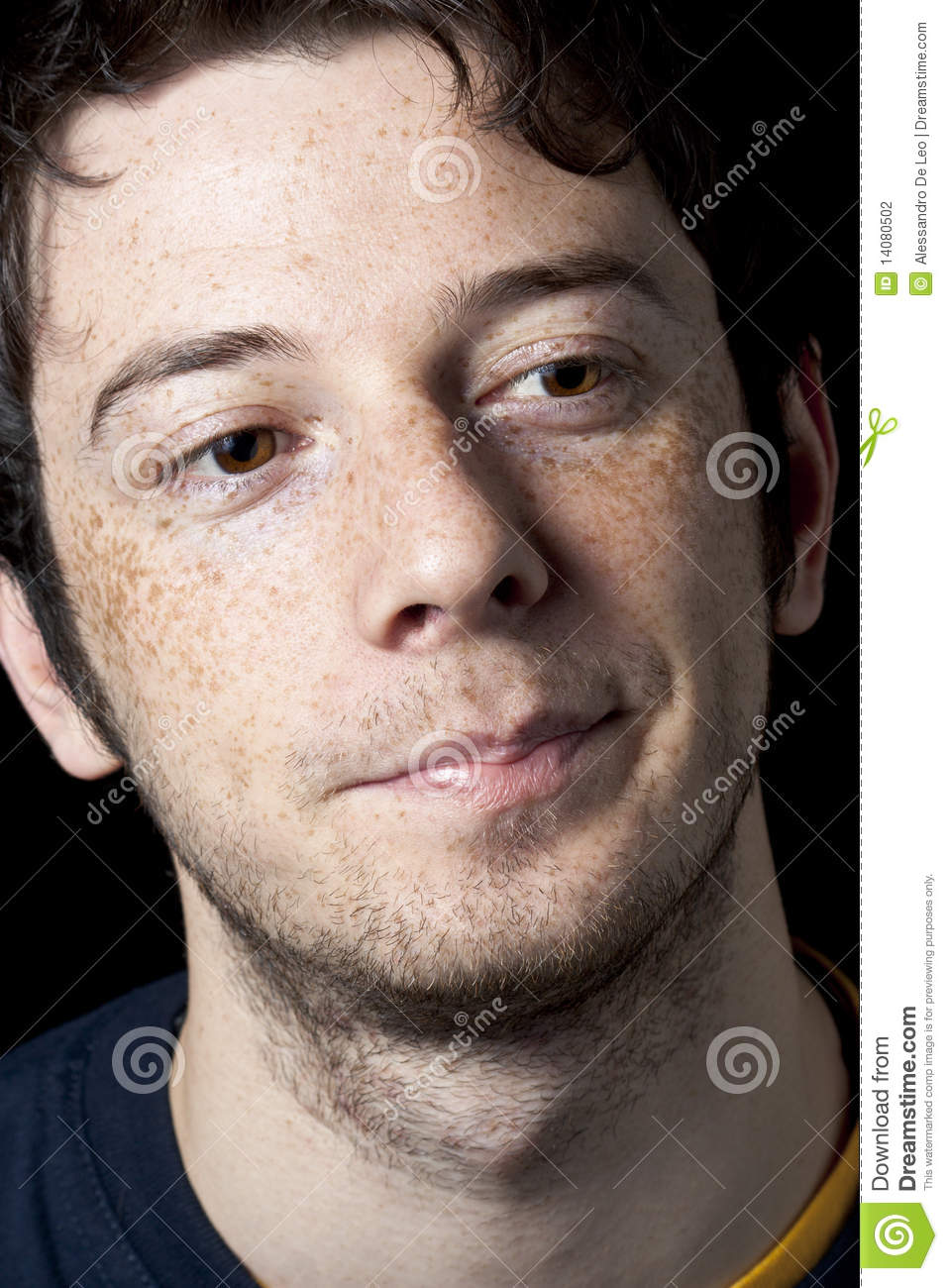 Satisfied Boy With Freckles Stock Photography Image