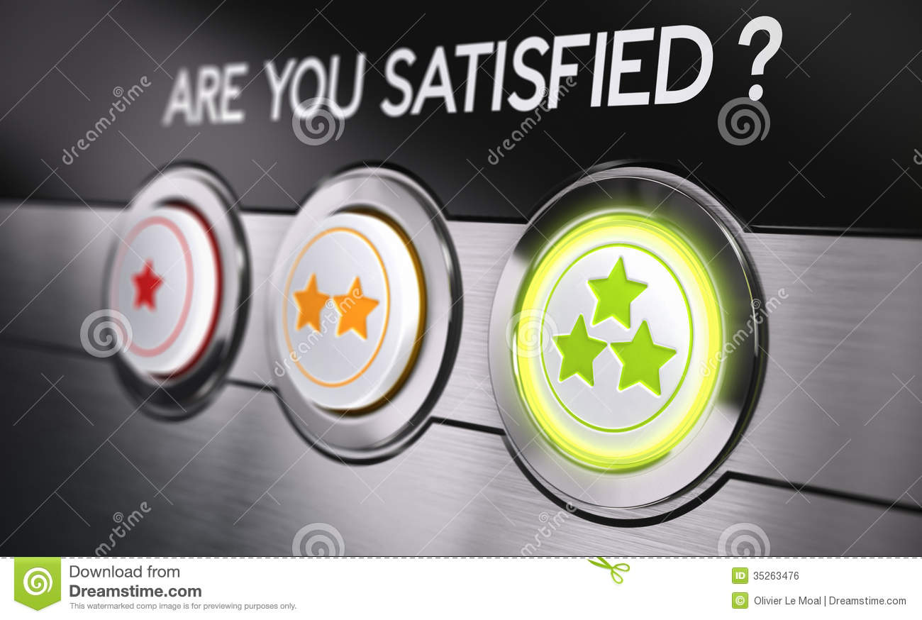 satisfied customer concept royalty free stock image