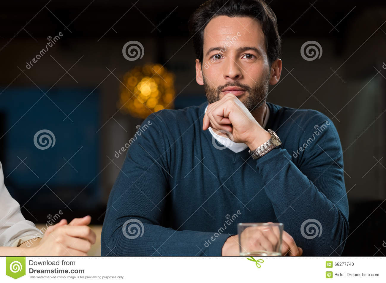 Satisfied man stock photo. Image of confident, imagination