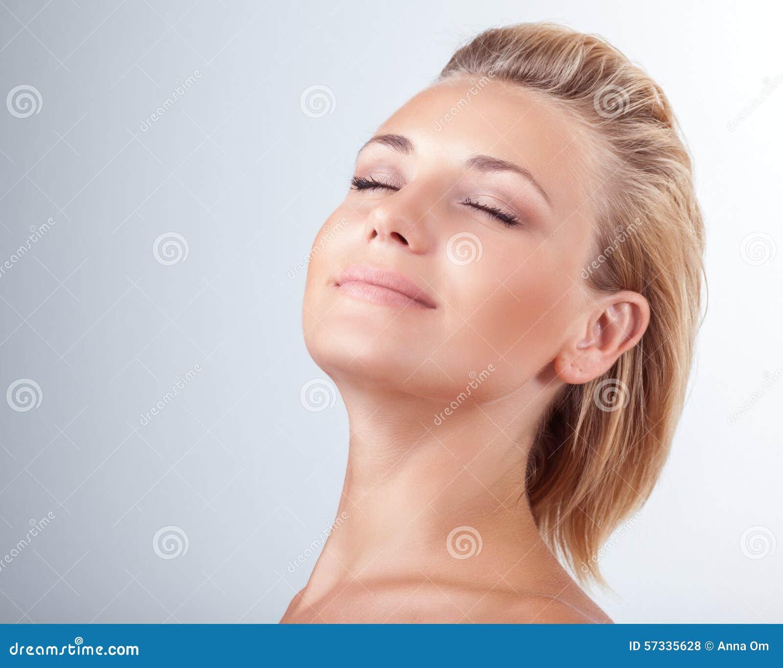 Woman Enjoying At Beach Stock Image Image Of Pleasure: Satisfied Woman At Spa Stock Photo