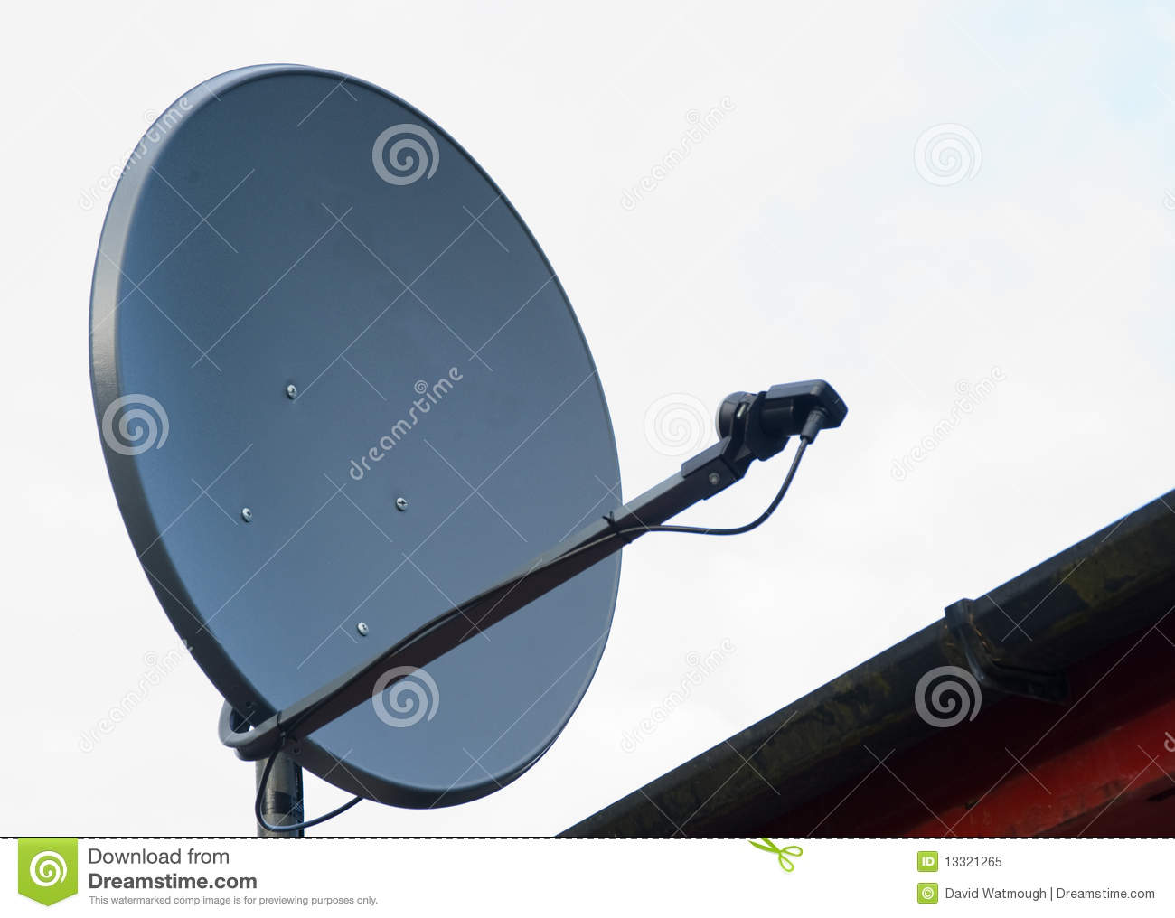 Sattelite Dish On A House Roof Stock Image Of Bolted Satellite Wiring