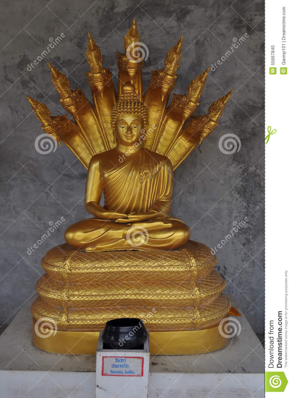 saturday buddha in gold stock photo image 55667840. Black Bedroom Furniture Sets. Home Design Ideas