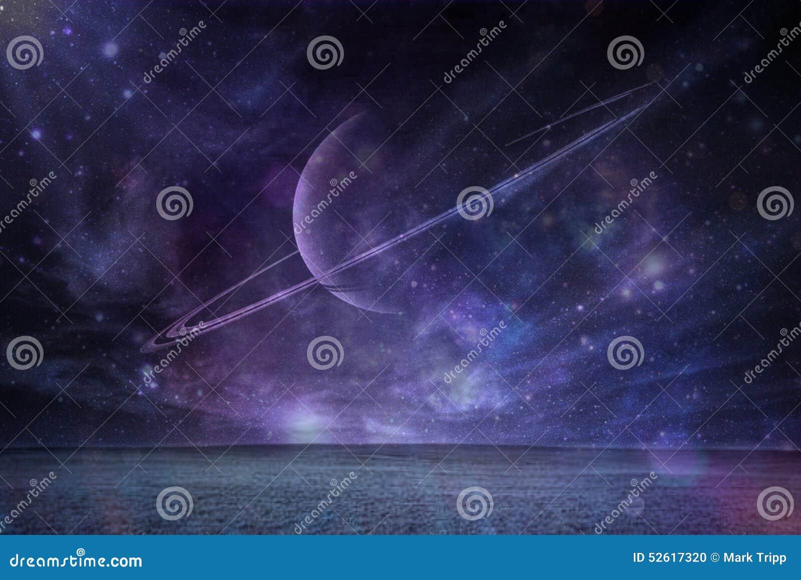 Saturn bij nacht