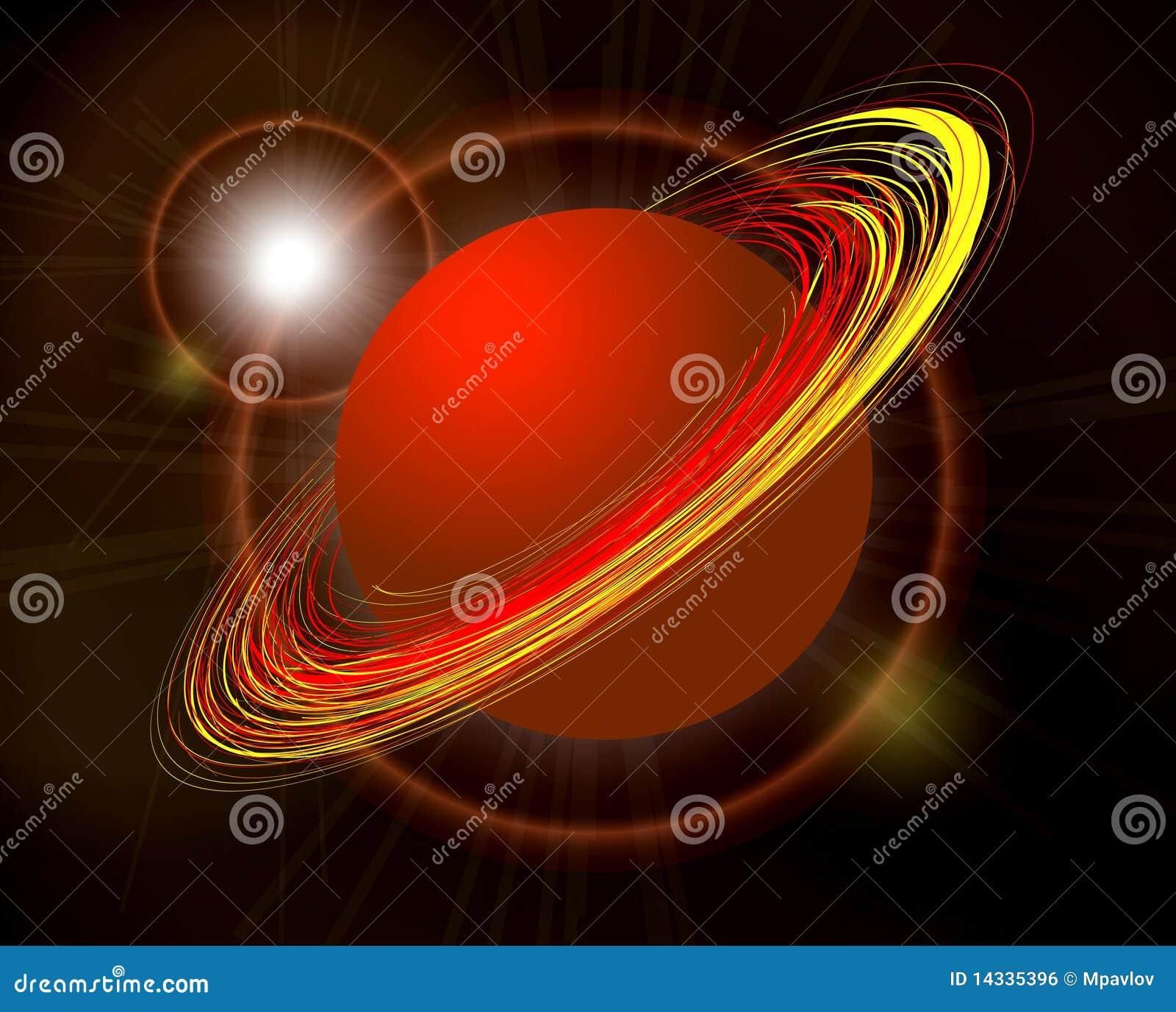 saturn planet illustration on black royalty free stock image