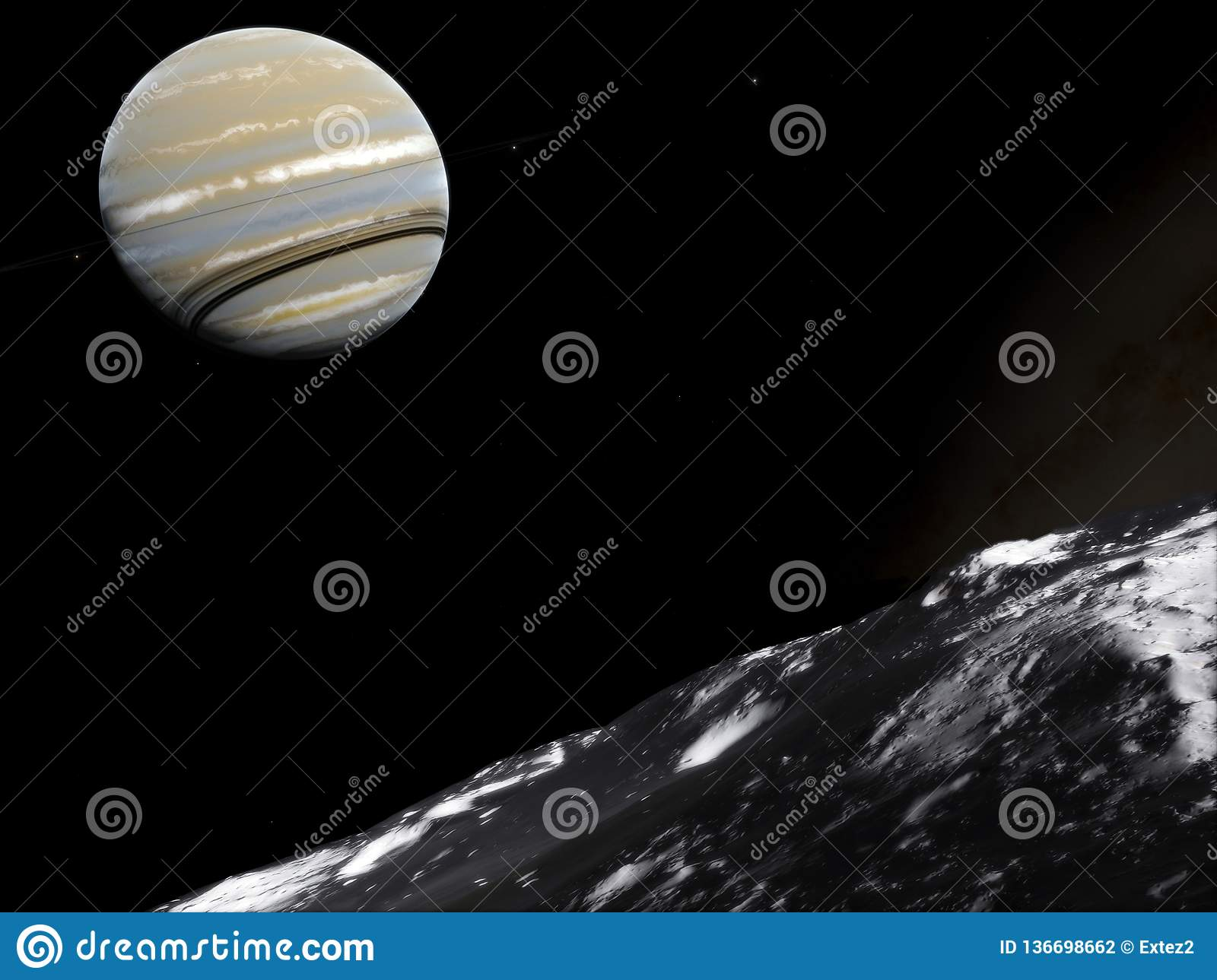 Saturn. Science fiction space wallpaper, incredibly beautiful planets, galaxies, dark and cold beauty of endless