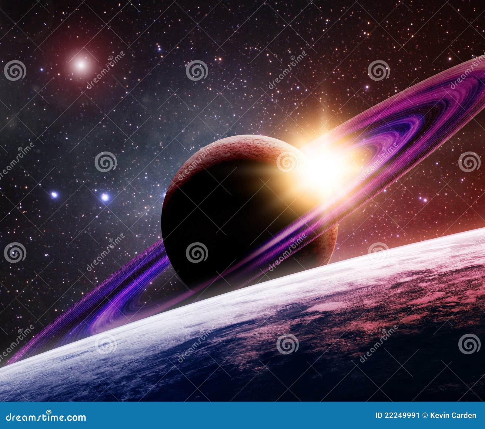 Saturn und Mond