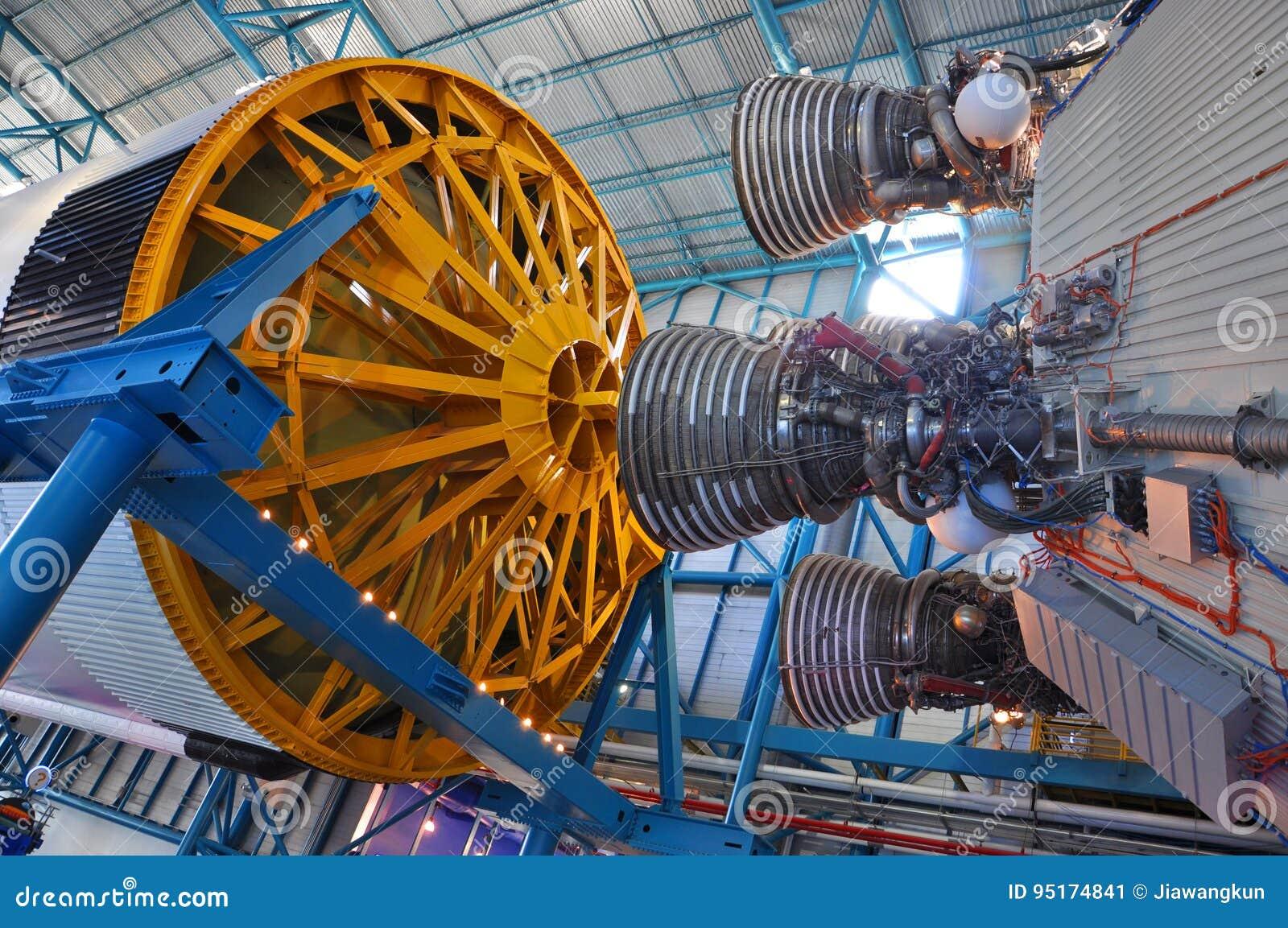 Saturn V Rakietowi silniki, przylądek Canaveral, Floryda