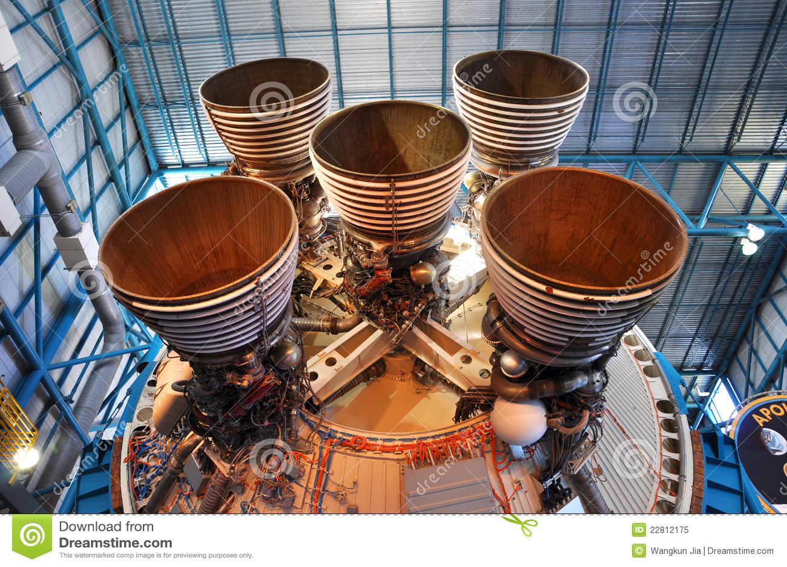 Saturn V Rocket Engines, Cape Canaveral, Florida