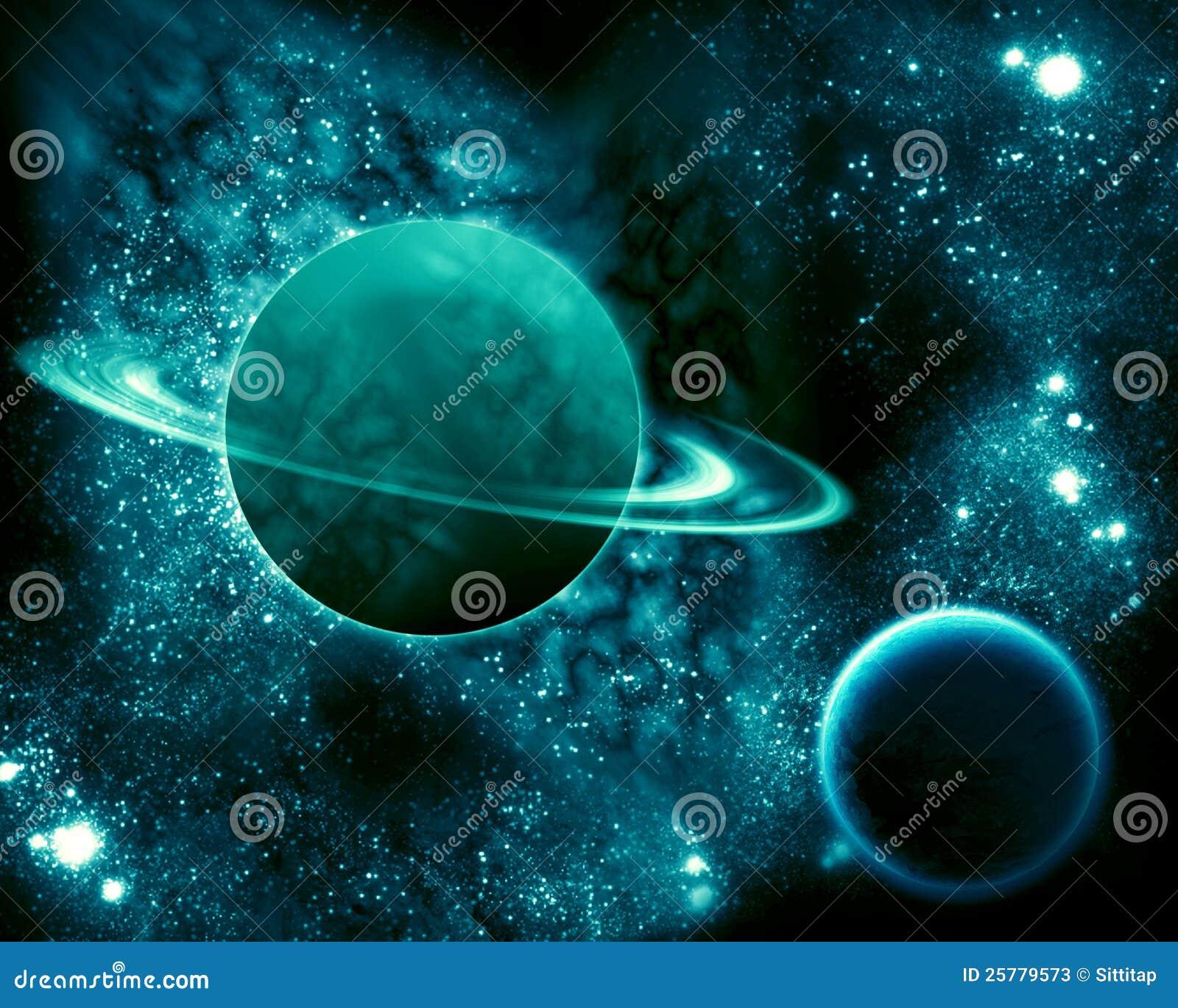Saturnus in het heelal