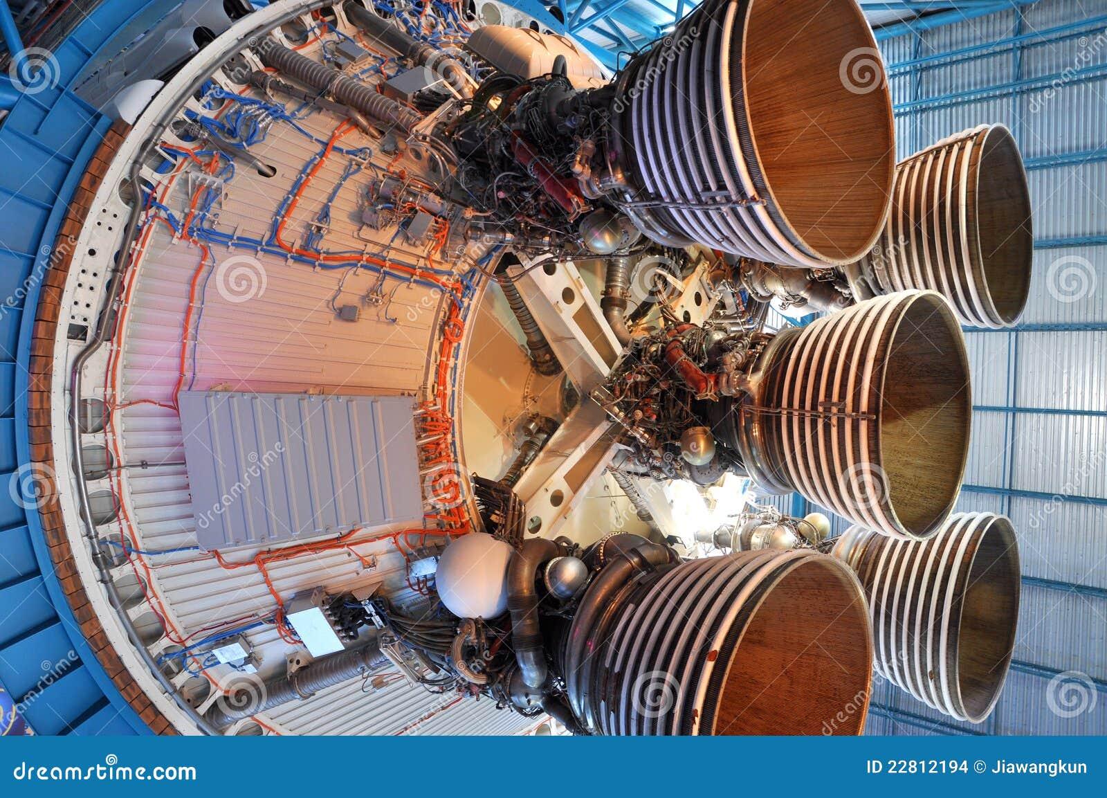 Saturnus V de Motoren van de Raket