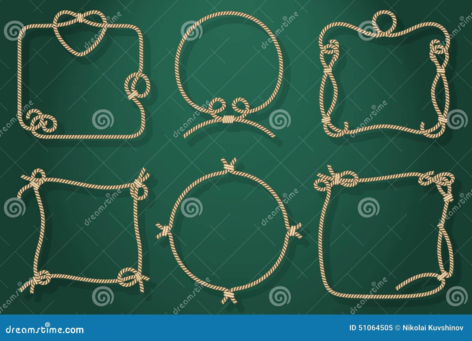 Satz Alte Seil-Rahmen In Den Verschiedenen Einzigartigen Arten ...