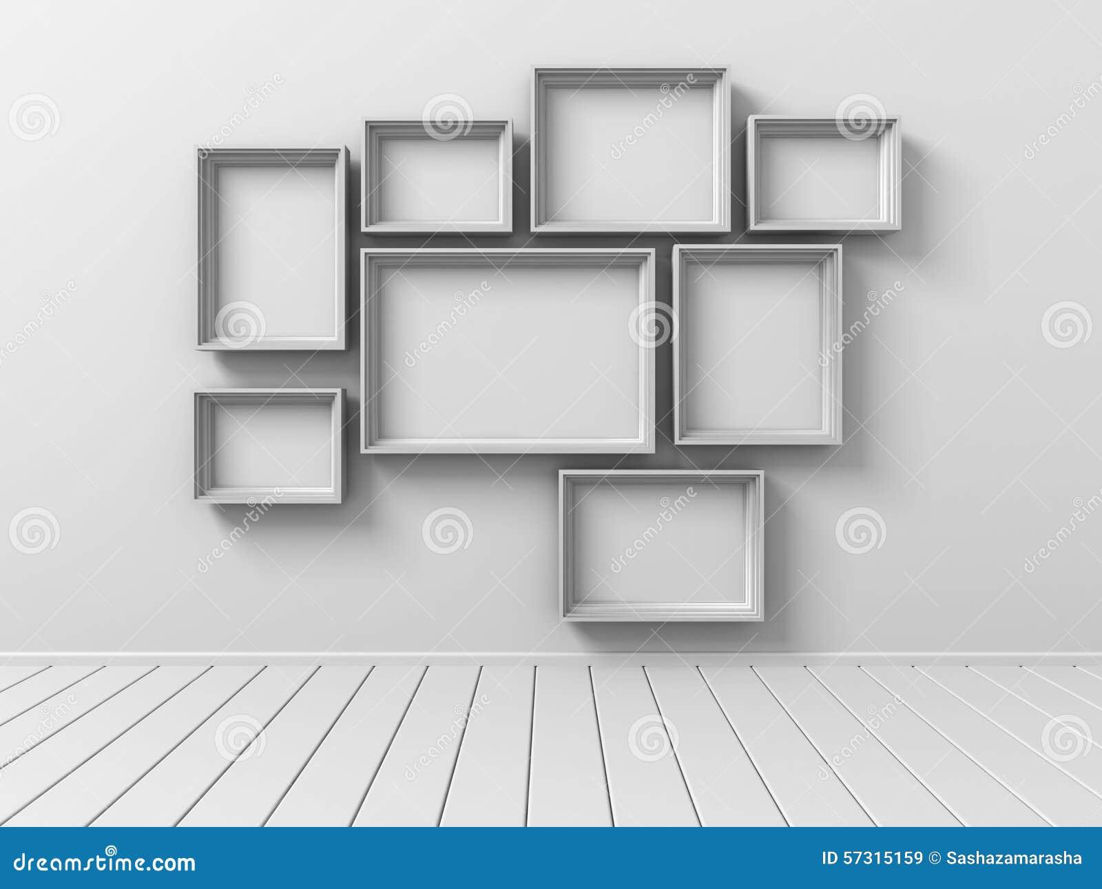 satz bild foto rahmen auf der wand stock abbildung bild 57315159. Black Bedroom Furniture Sets. Home Design Ideas