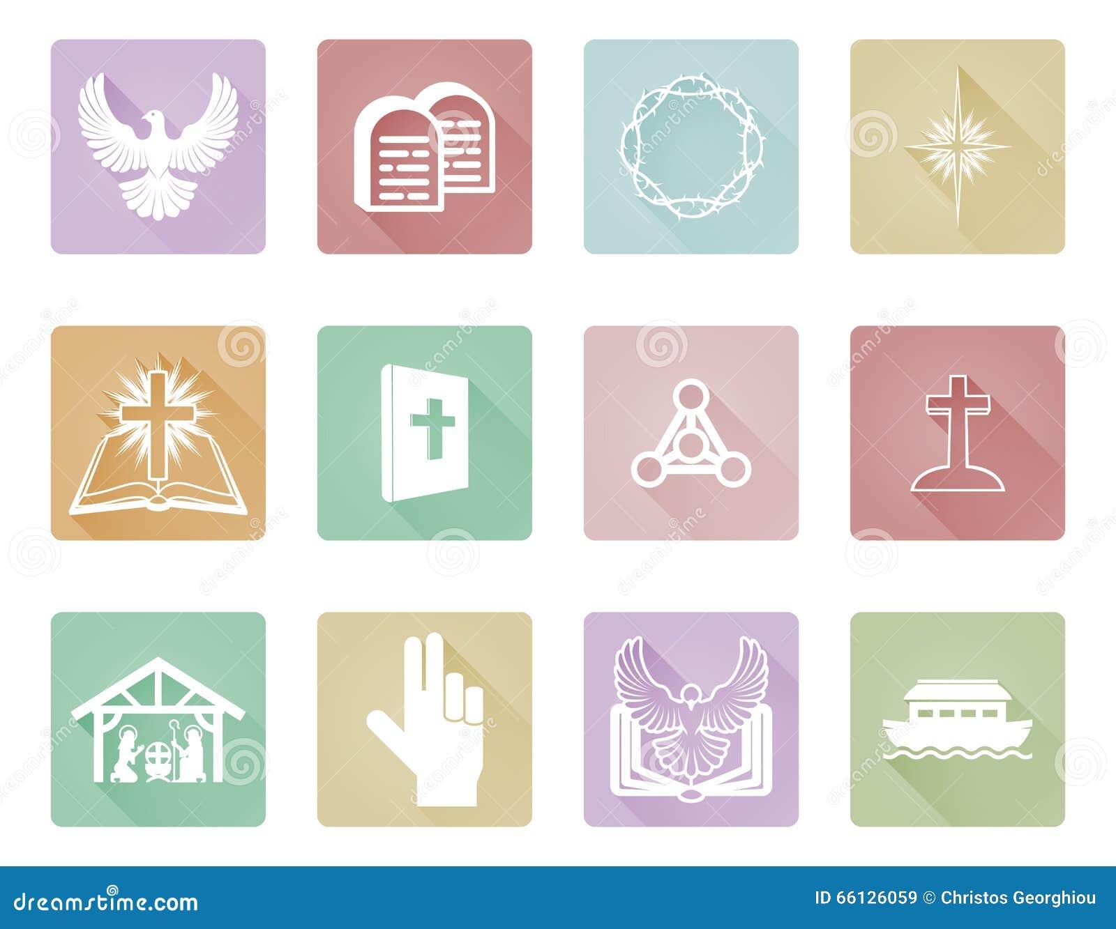 Satz christliche Ikonen
